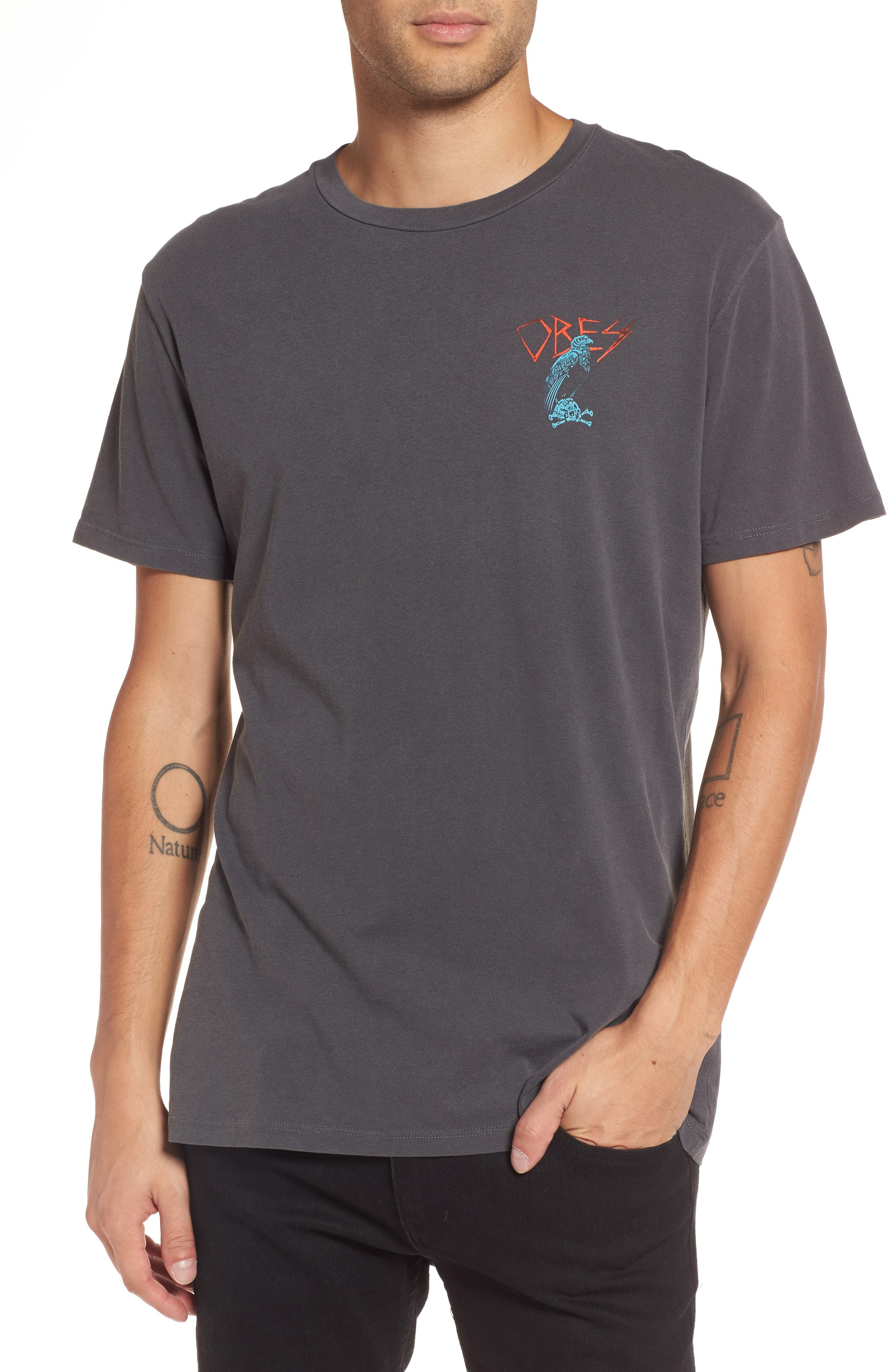 Living in Darkness T-Shirt,                         Main,                         color, Dusty Black