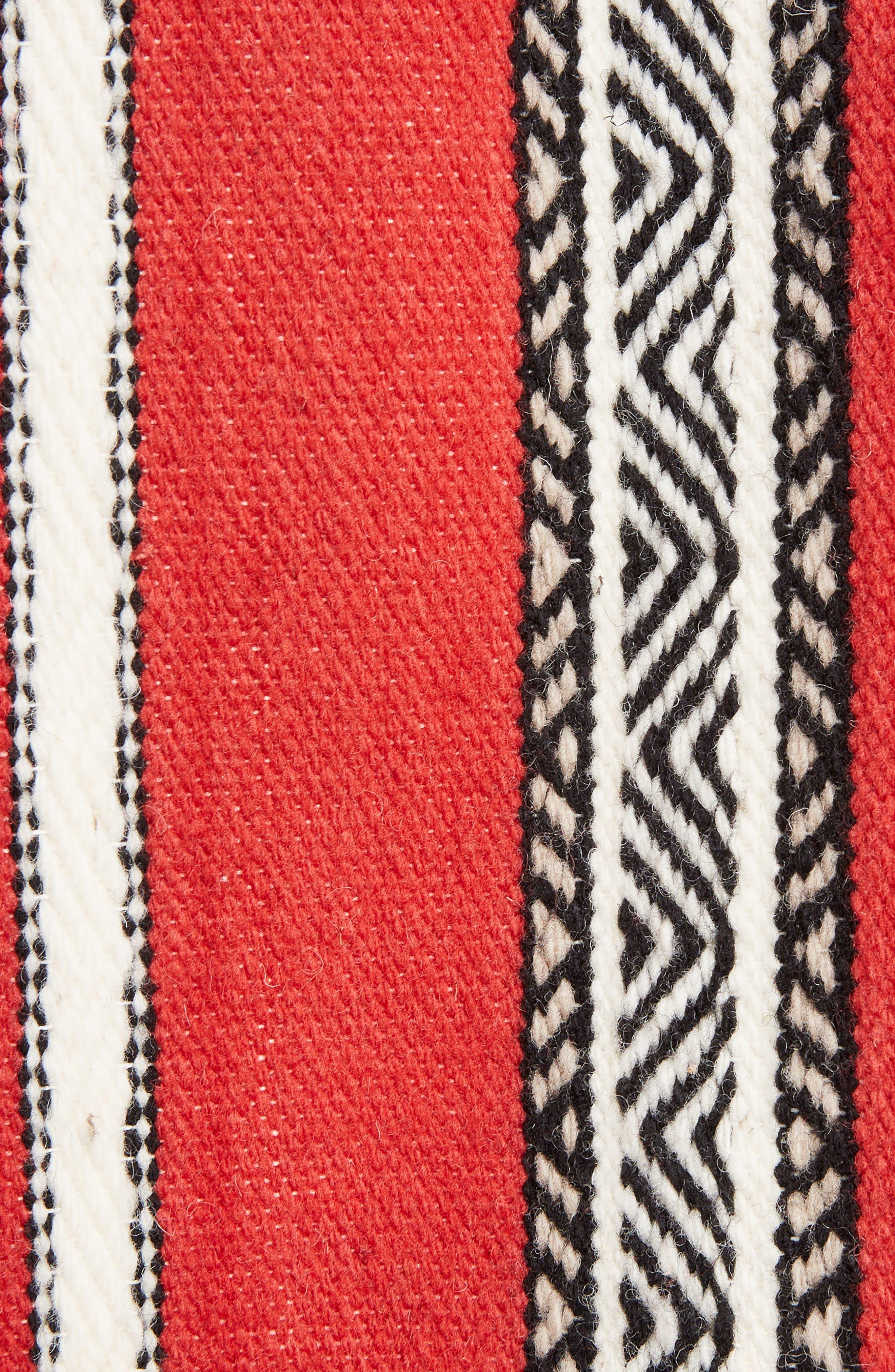 Tapestry Wool Blend Teddy Jacket,                             Alternate thumbnail 5, color,                             Rouge Craie Noir