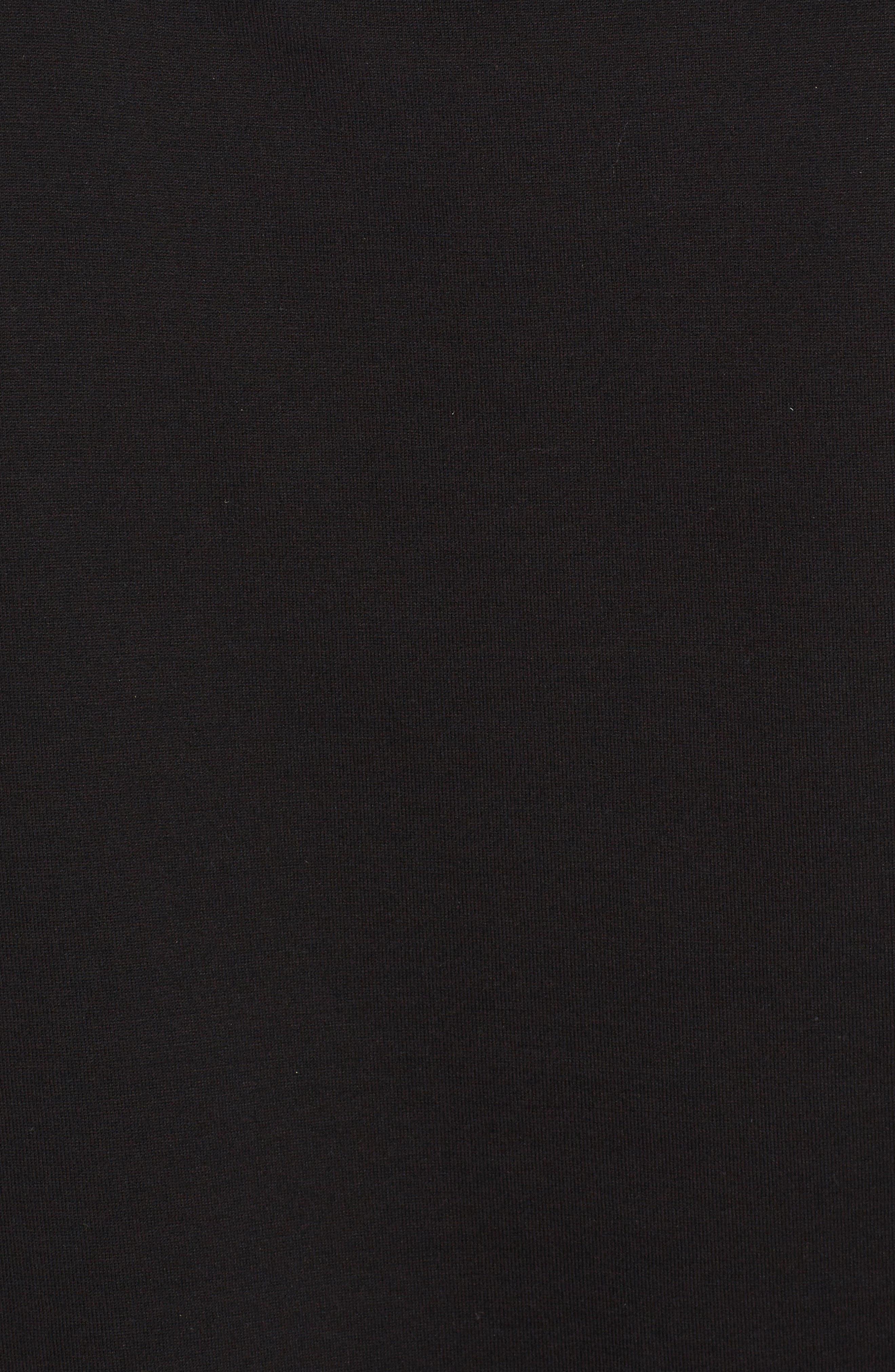 Sequin Logo Muscle Tee,                             Alternate thumbnail 5, color,                             Black
