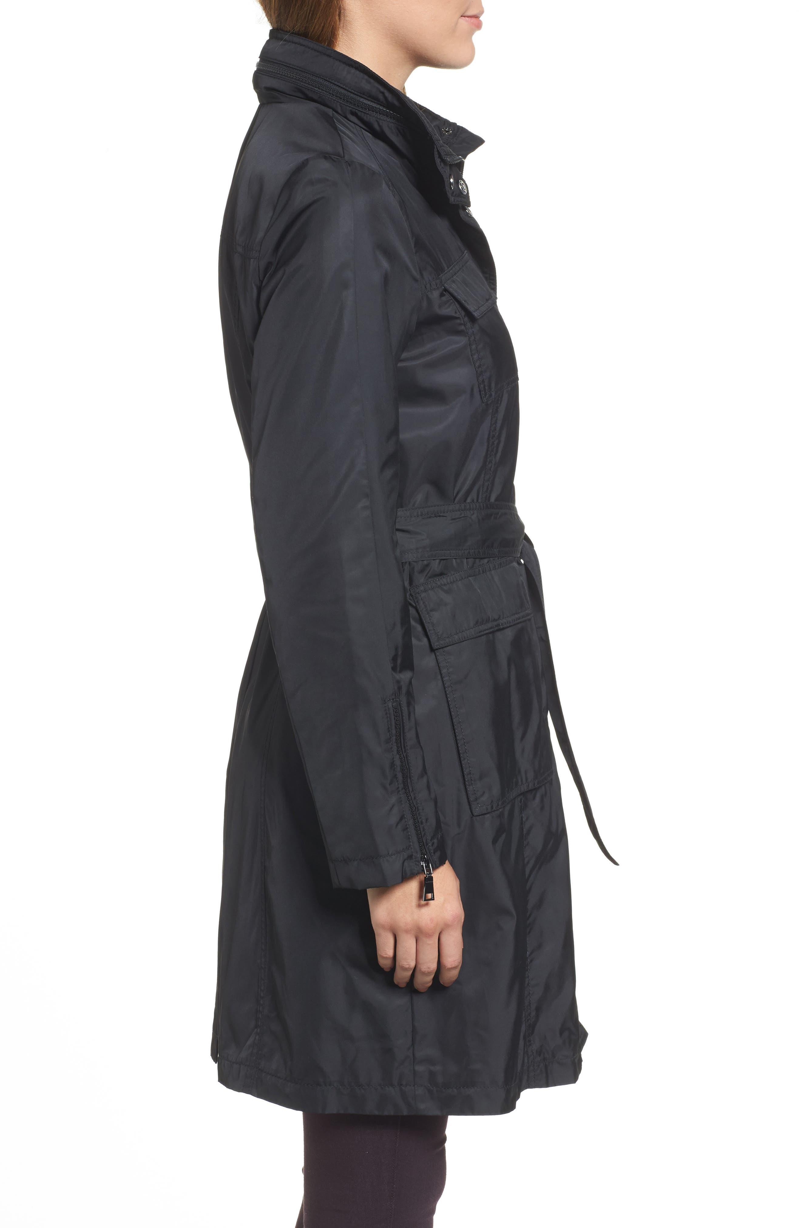 Alternate Image 3  - Tahari Giselle Stowaway Hood Rain Anorak