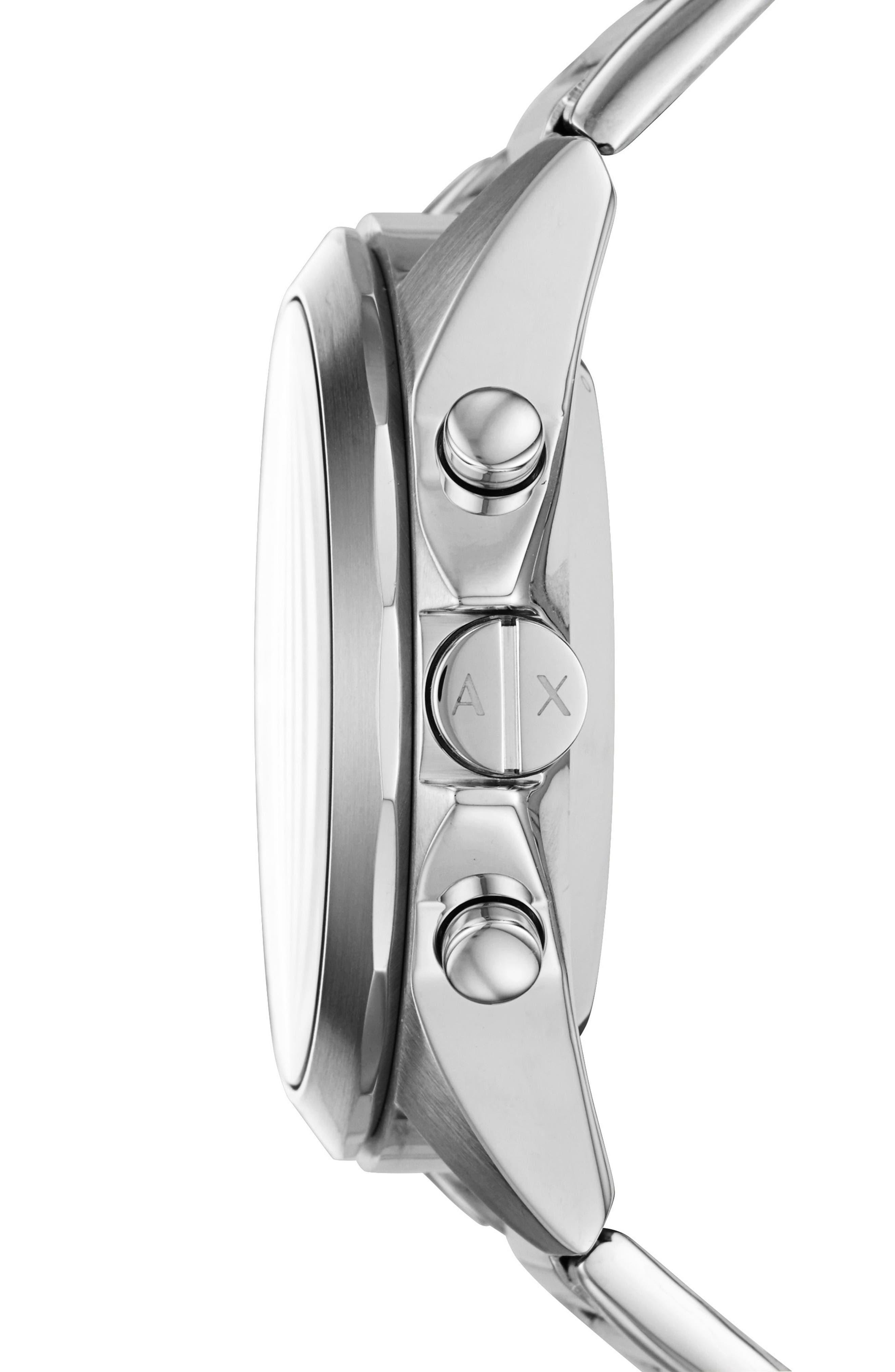 Connected Hybrid Bracelet Smartwatch, 44mm,                             Alternate thumbnail 3, color,                             Black/ Stainless Steel