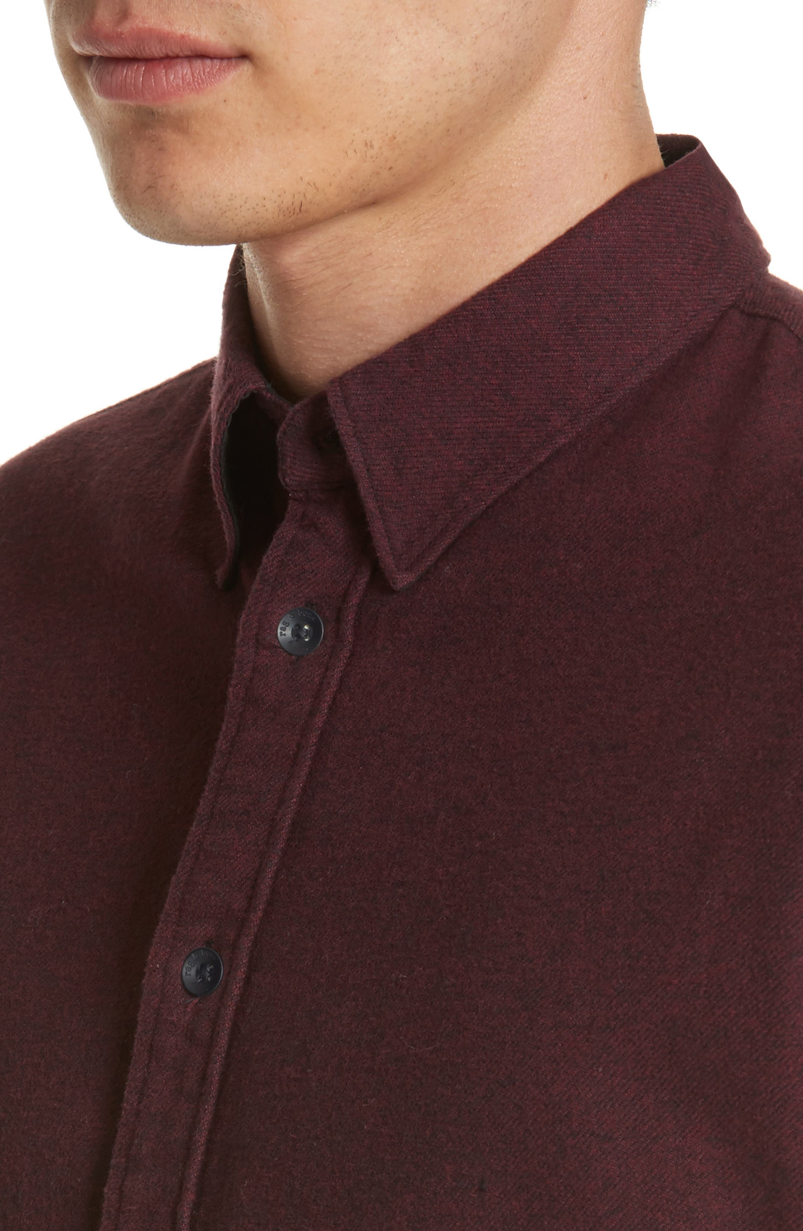 Fit 2 Base Woven Shirt,                             Alternate thumbnail 4, color,                             Burgundy