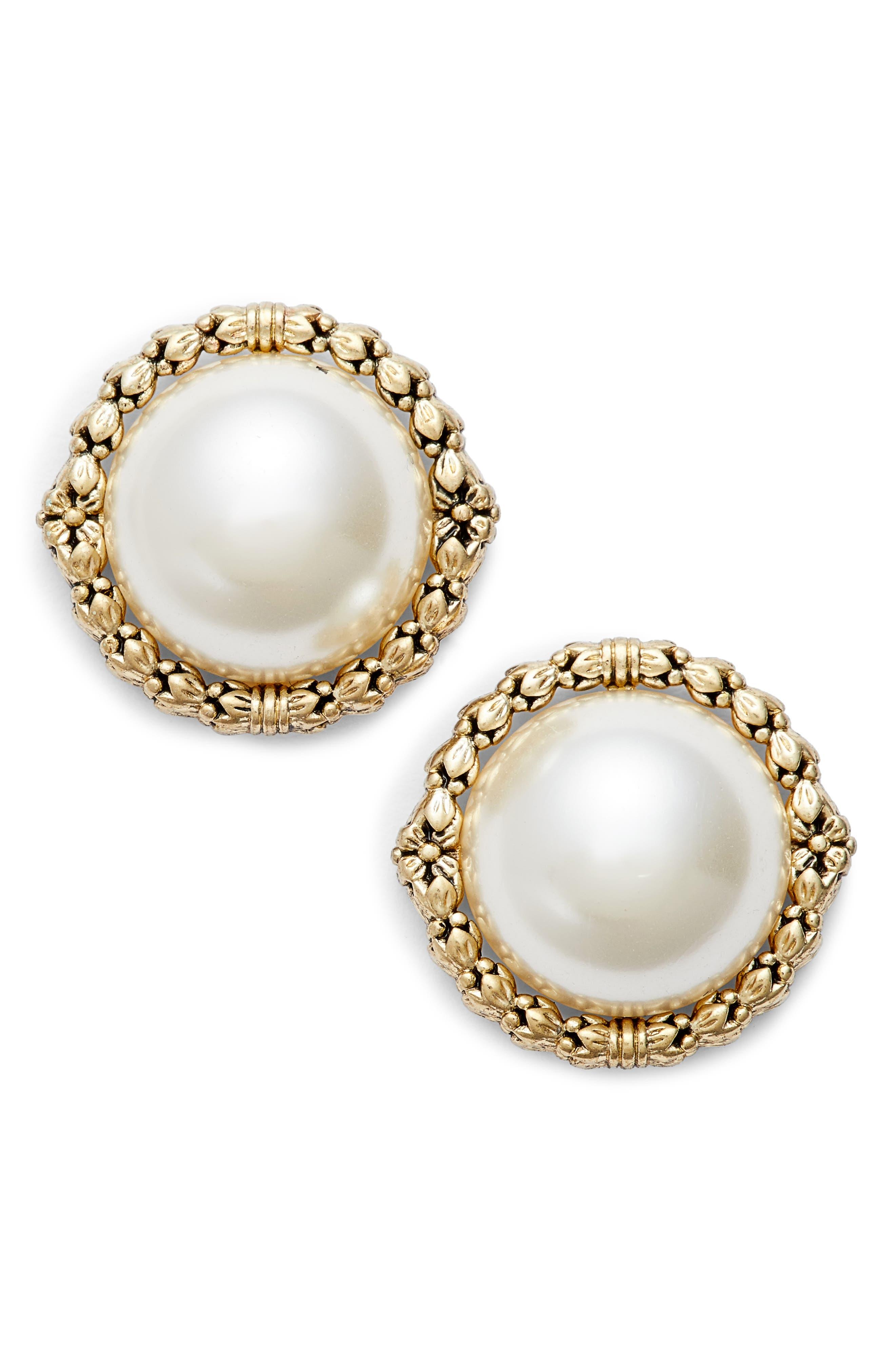 Jenny Packham Imitation Pearl Stud Earrings