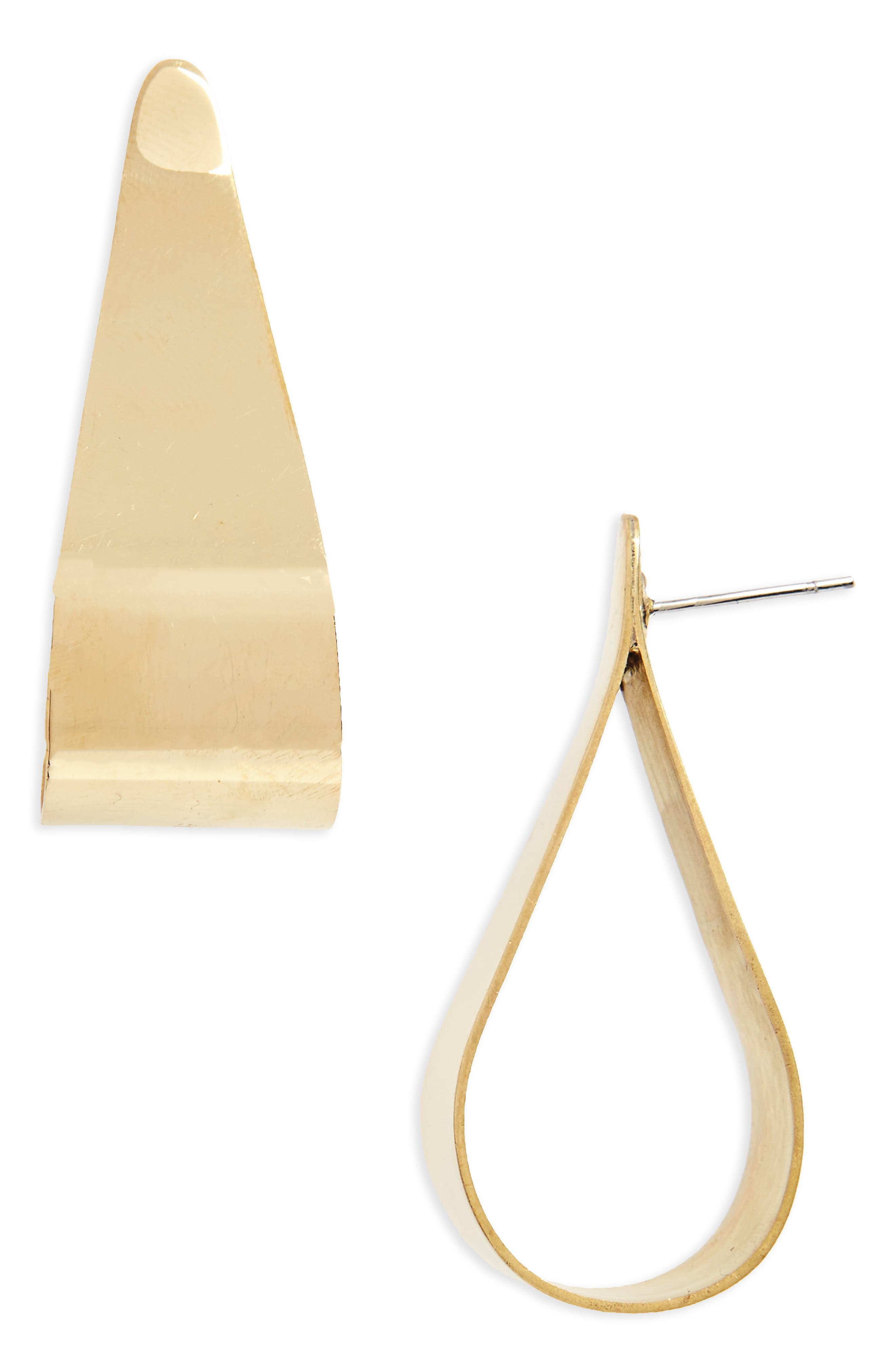 Soko Folded Teardrop Stud Earrings