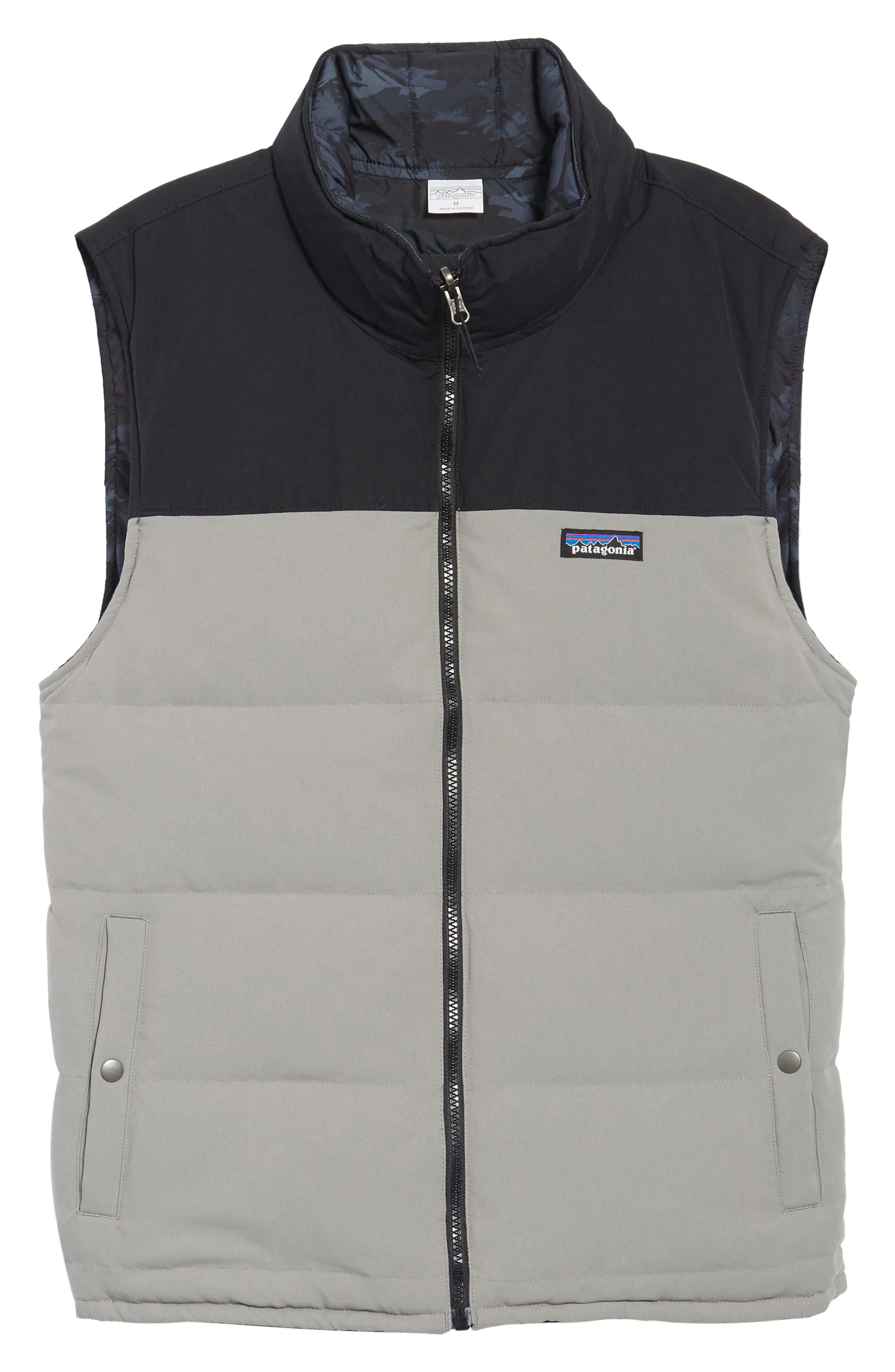 'Bivy' Reversible Down Fill Vest,                             Alternate thumbnail 6, color,                             Feather Grey