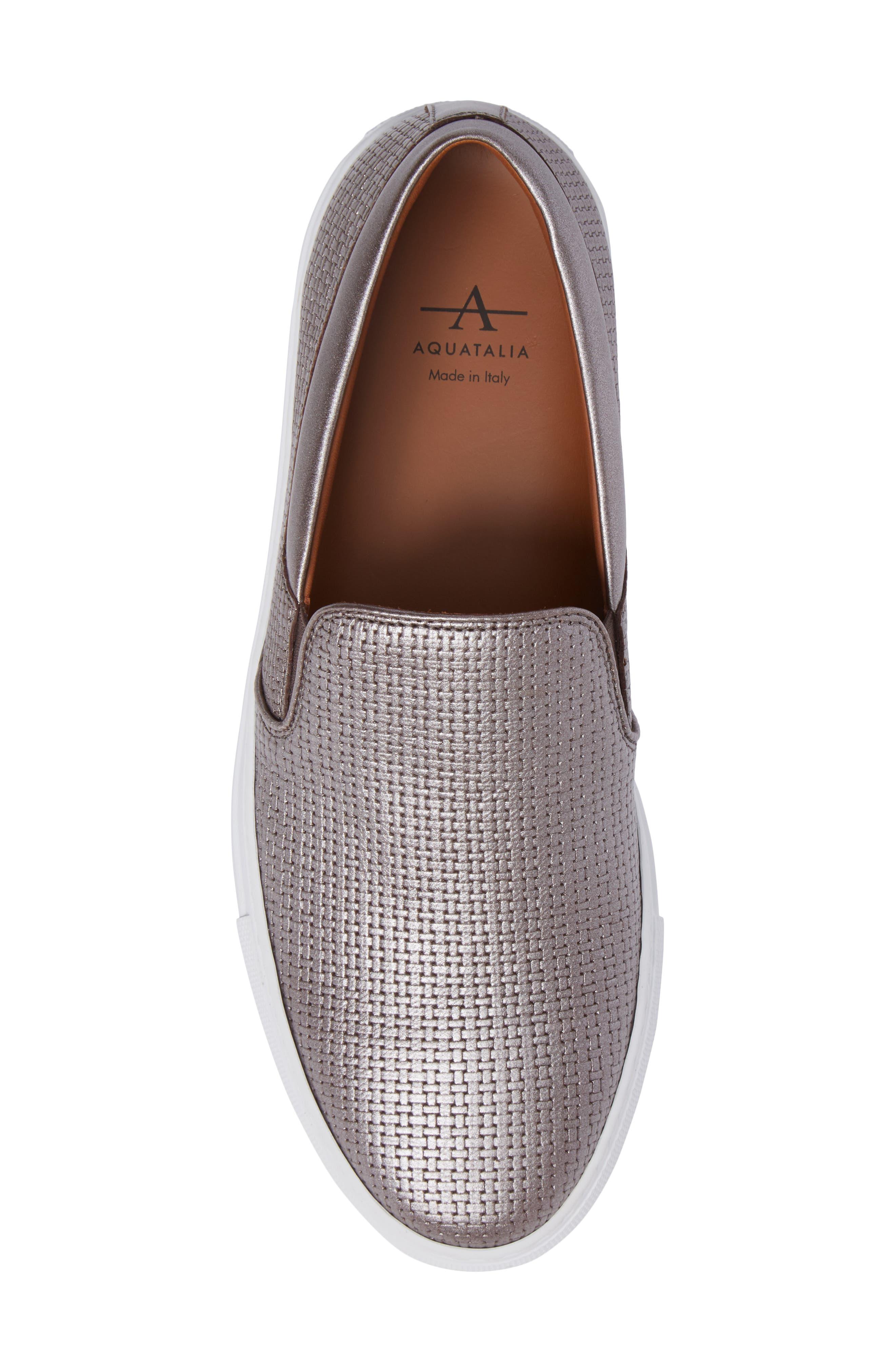 Alternate Image 5  - Aquatalia Ashlynn Embossed Slip-On Sneaker (Women)