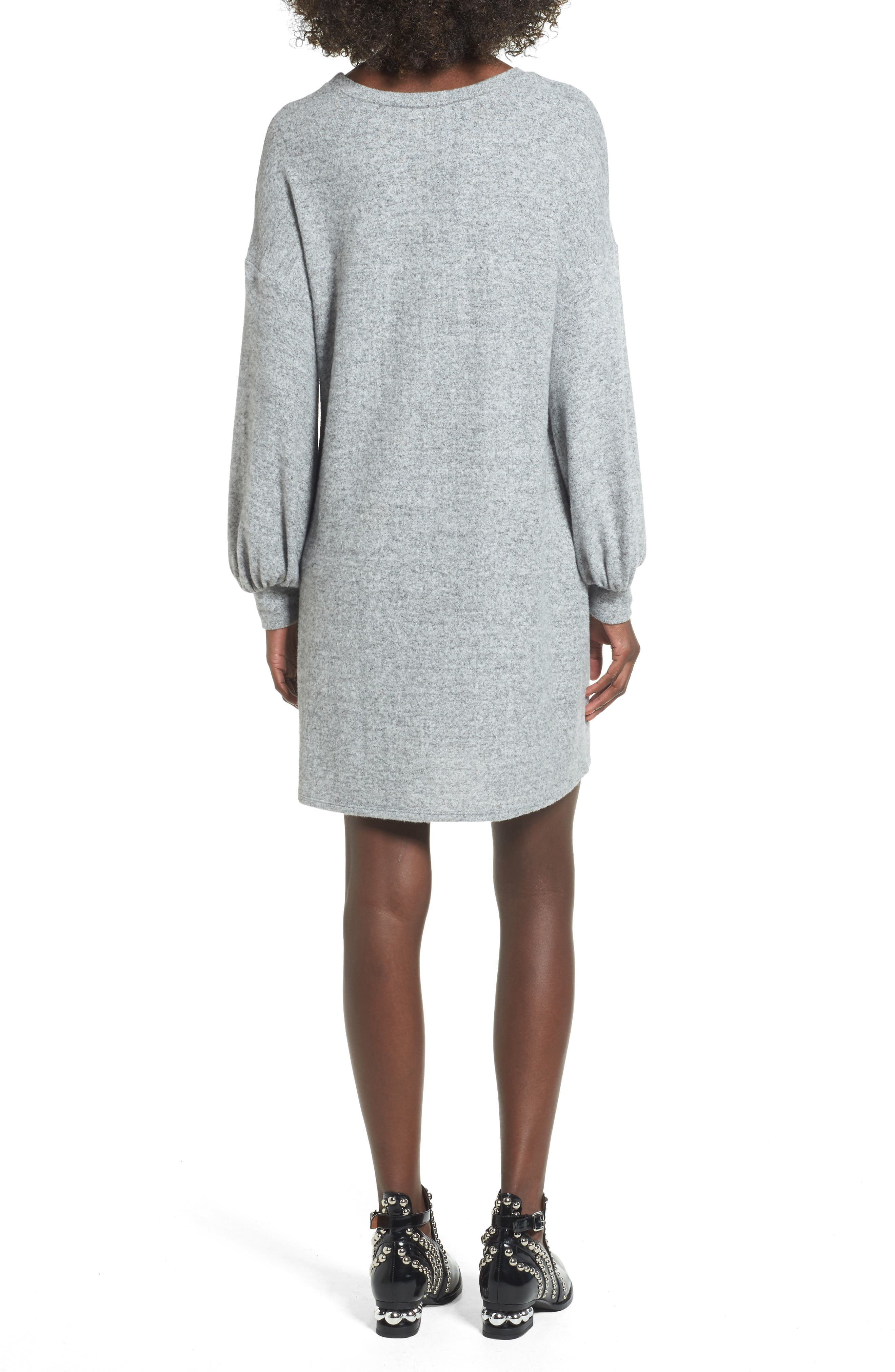 Alternate Image 2  - Soprano Balloon Sleeve Sweater Dress