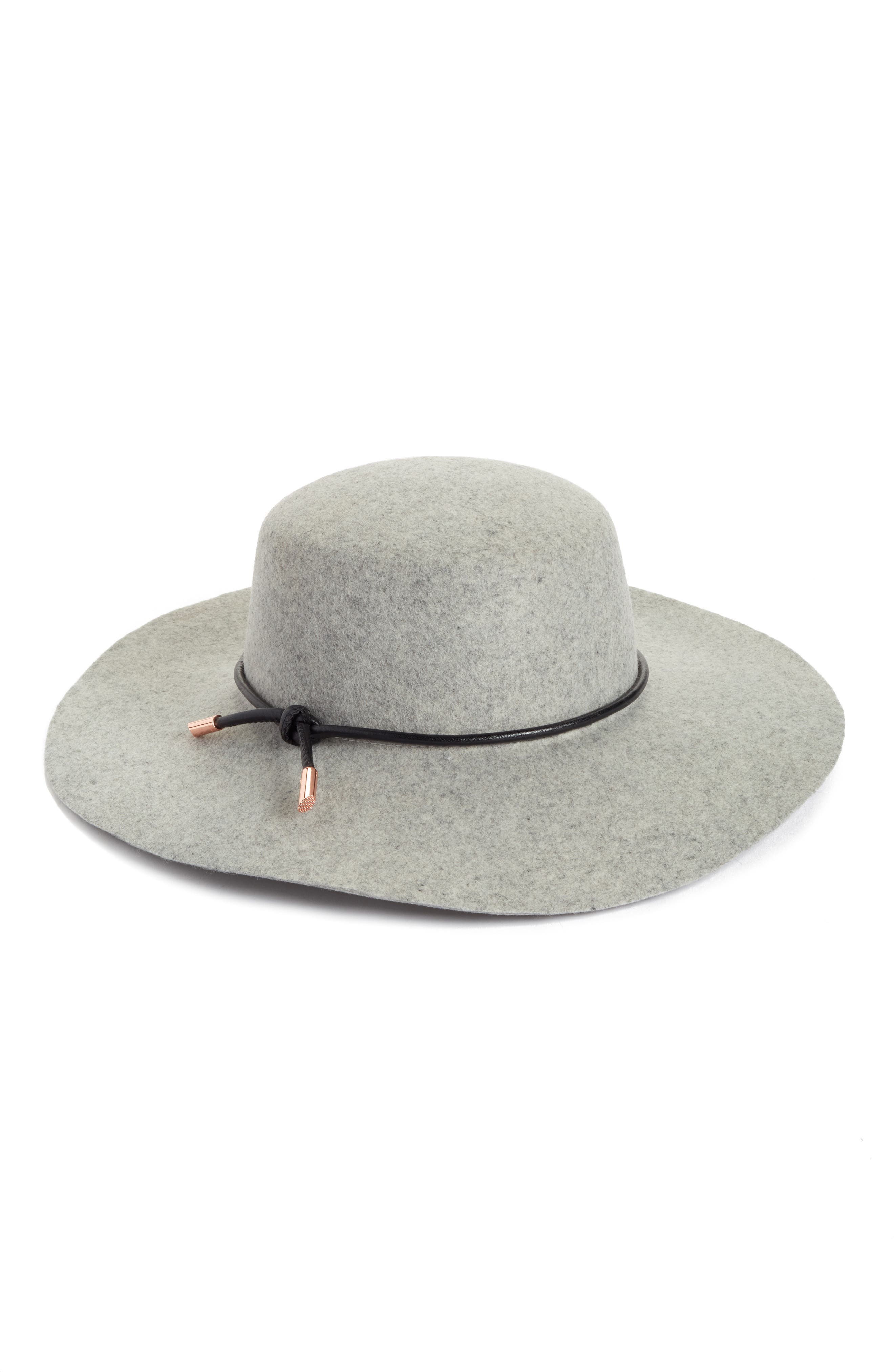 Alternate Image 1 Selected - Ted Baker London Rope Trim Wool Felt Hat