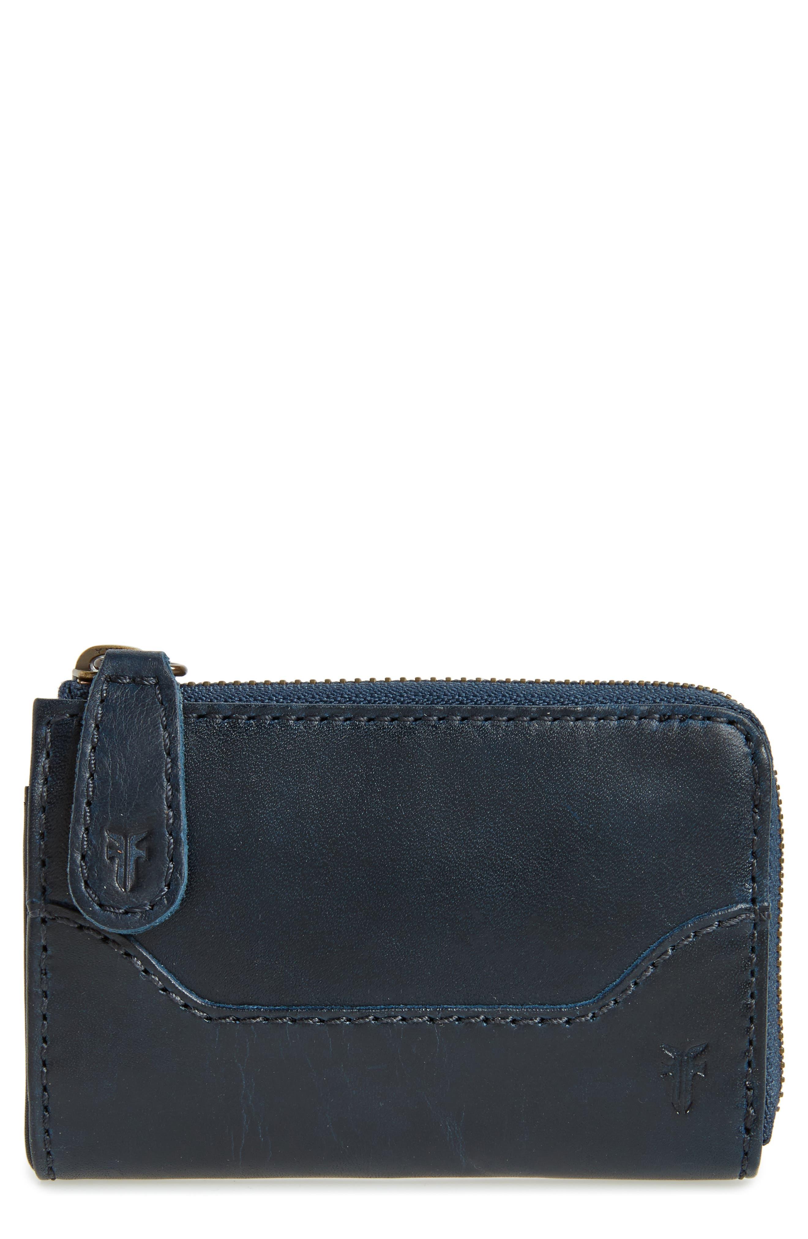 Frye Small Melissa Leather Zip Wallet