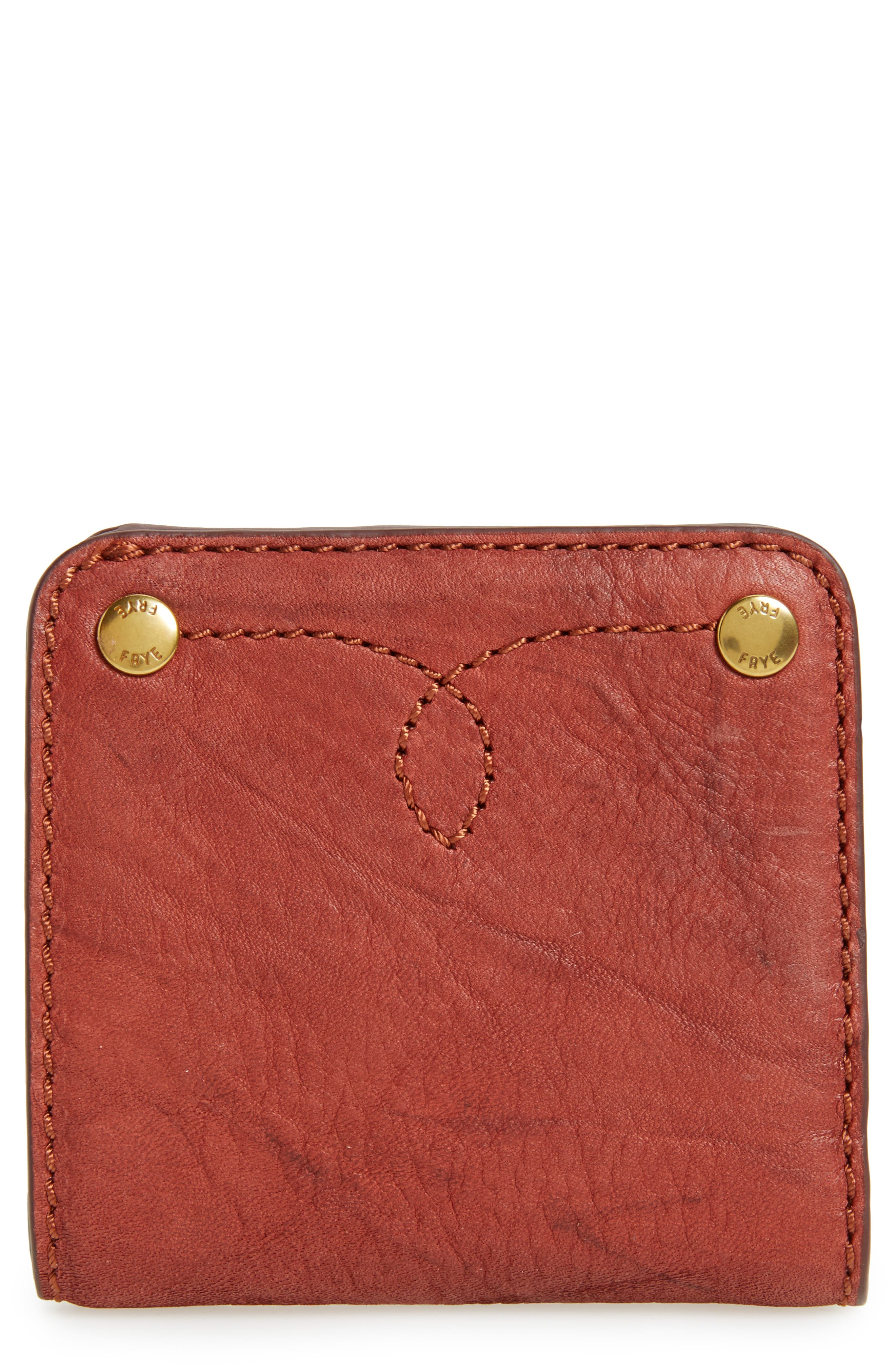 Alternate Image 1 Selected - Frye Small Campus Rivet Leather Wallet