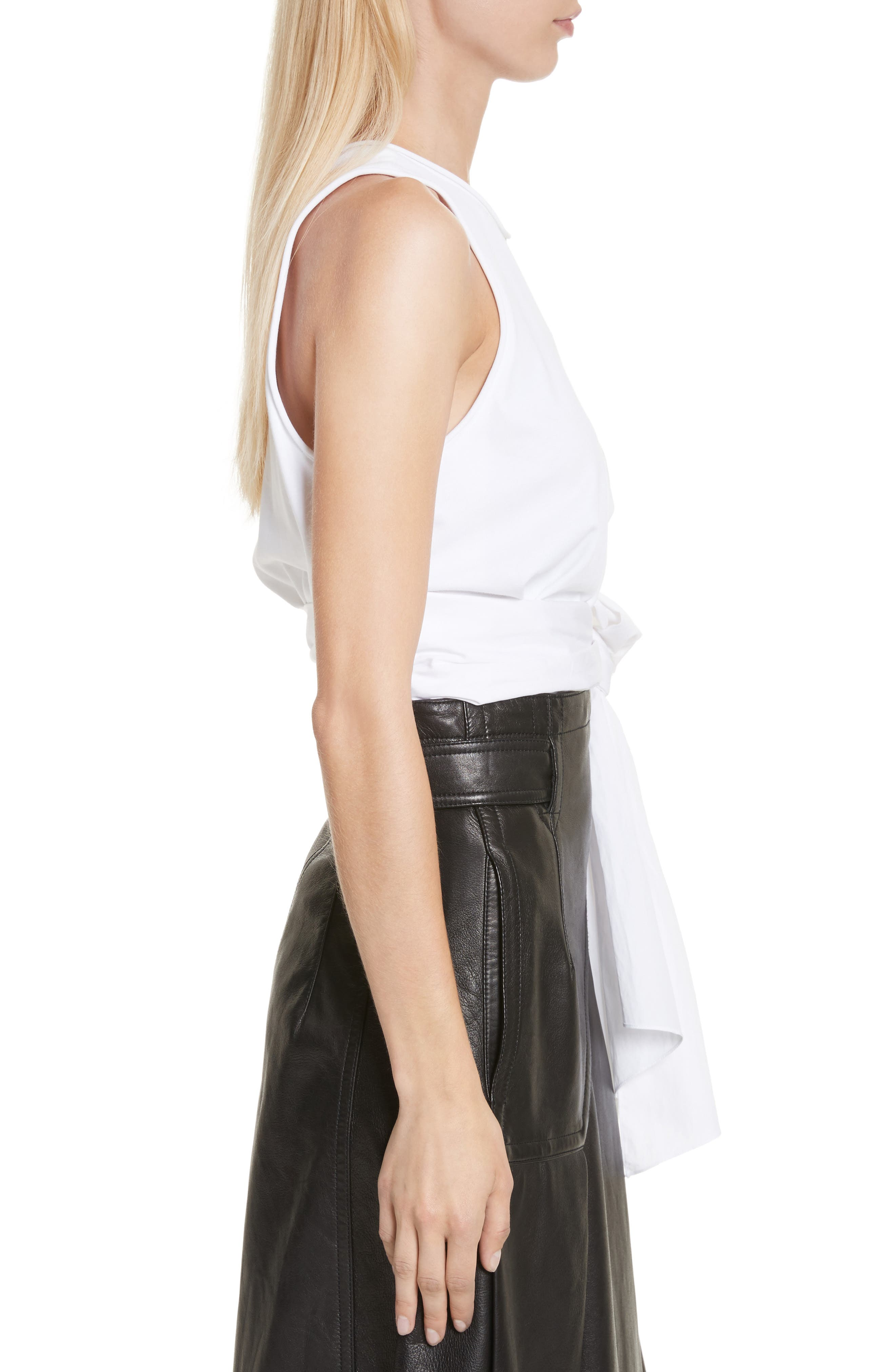 Twist Front Tank Top,                             Alternate thumbnail 3, color,                             White