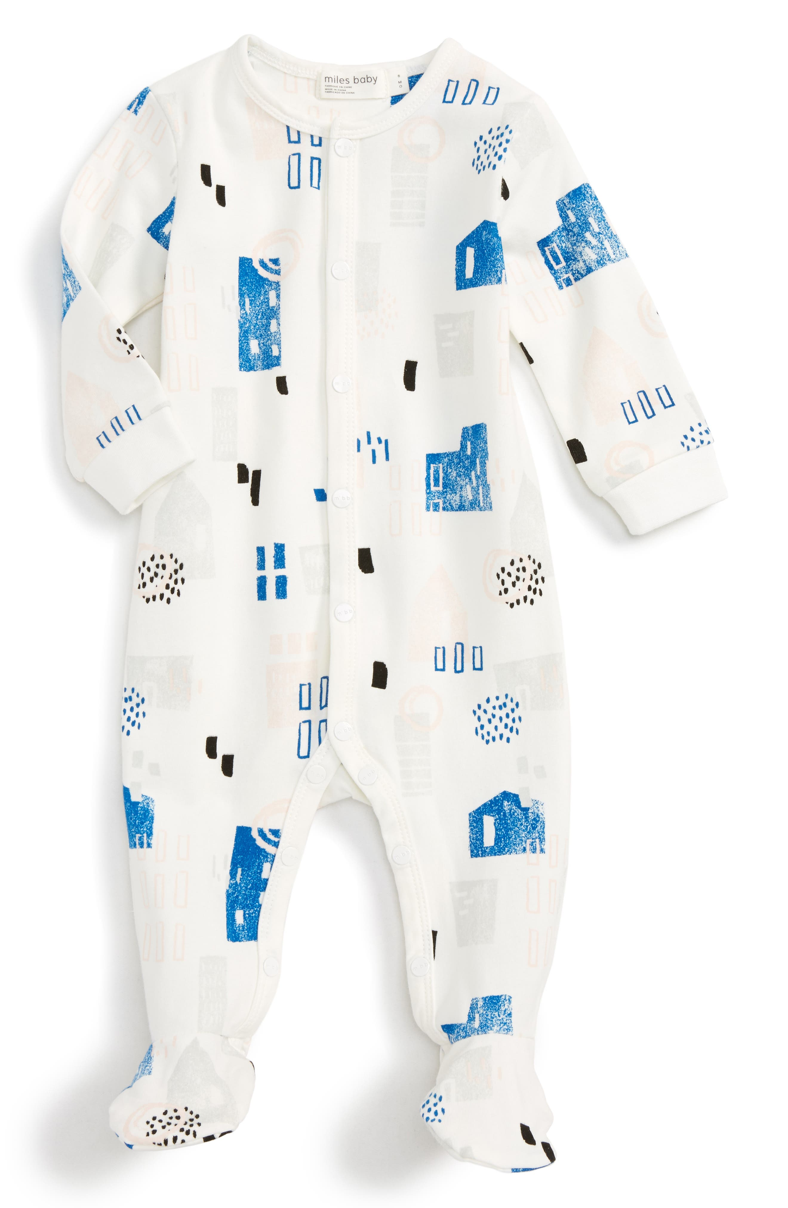 Main Image - Miles Baby Fitted One-Piece Pajamas (Baby)