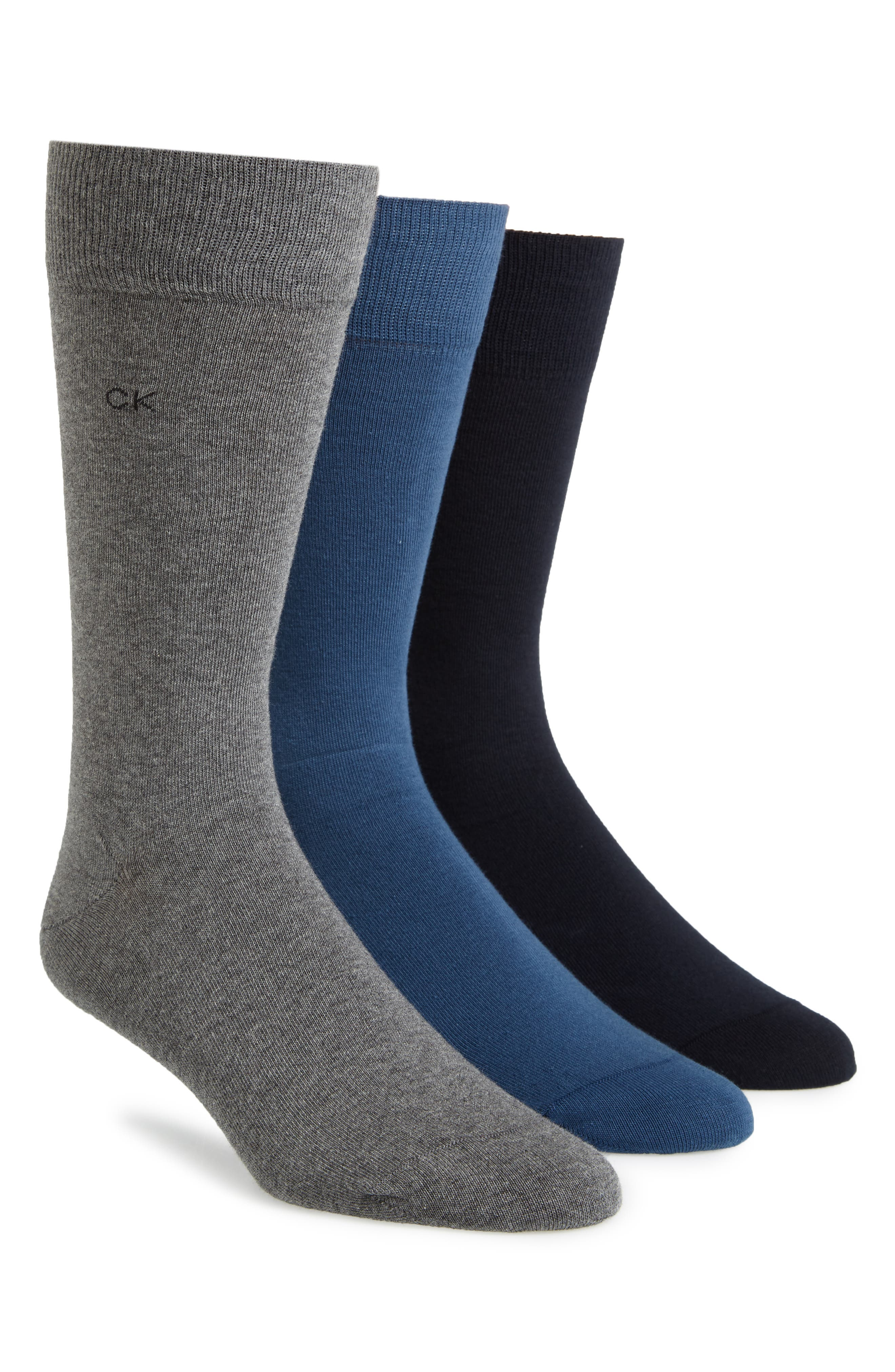 Alternate Image 1 Selected - Calvin Klein Assorted 3-Pack Socks