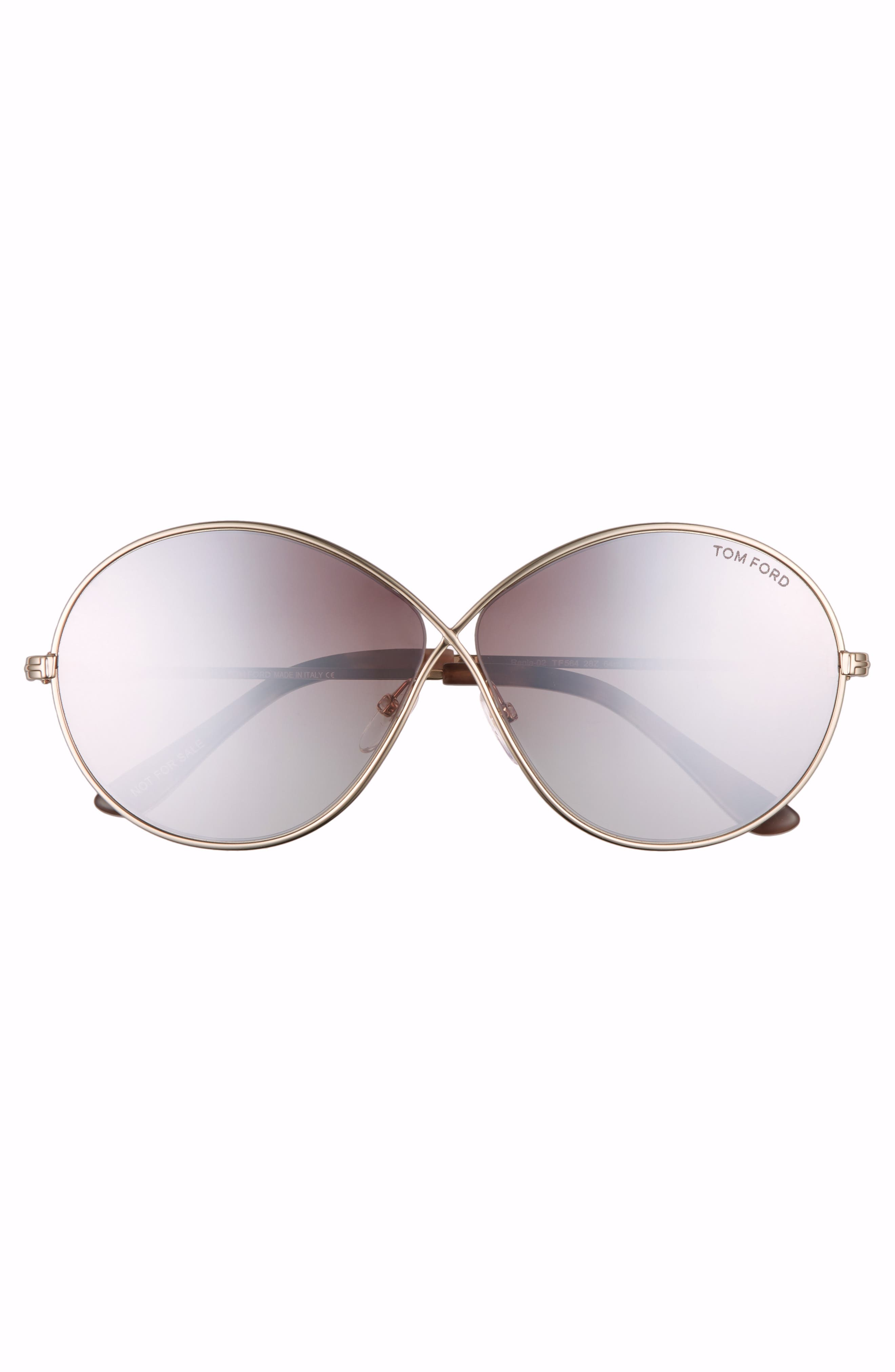 Alternate Image 3  - Tom Ford Rania 64mm Oversize Round Sunglasses