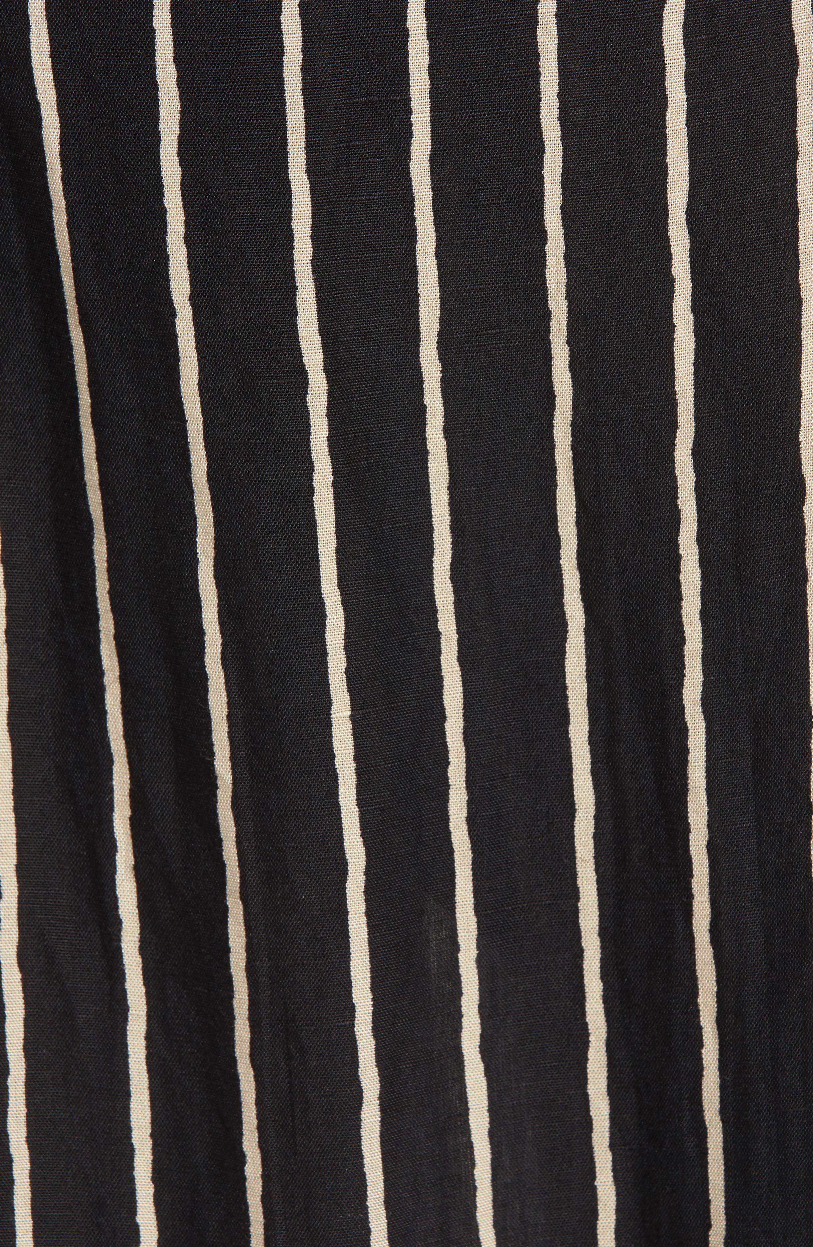Strapless Faux Wrap Maxi Dress,                             Alternate thumbnail 4, color,                             Black