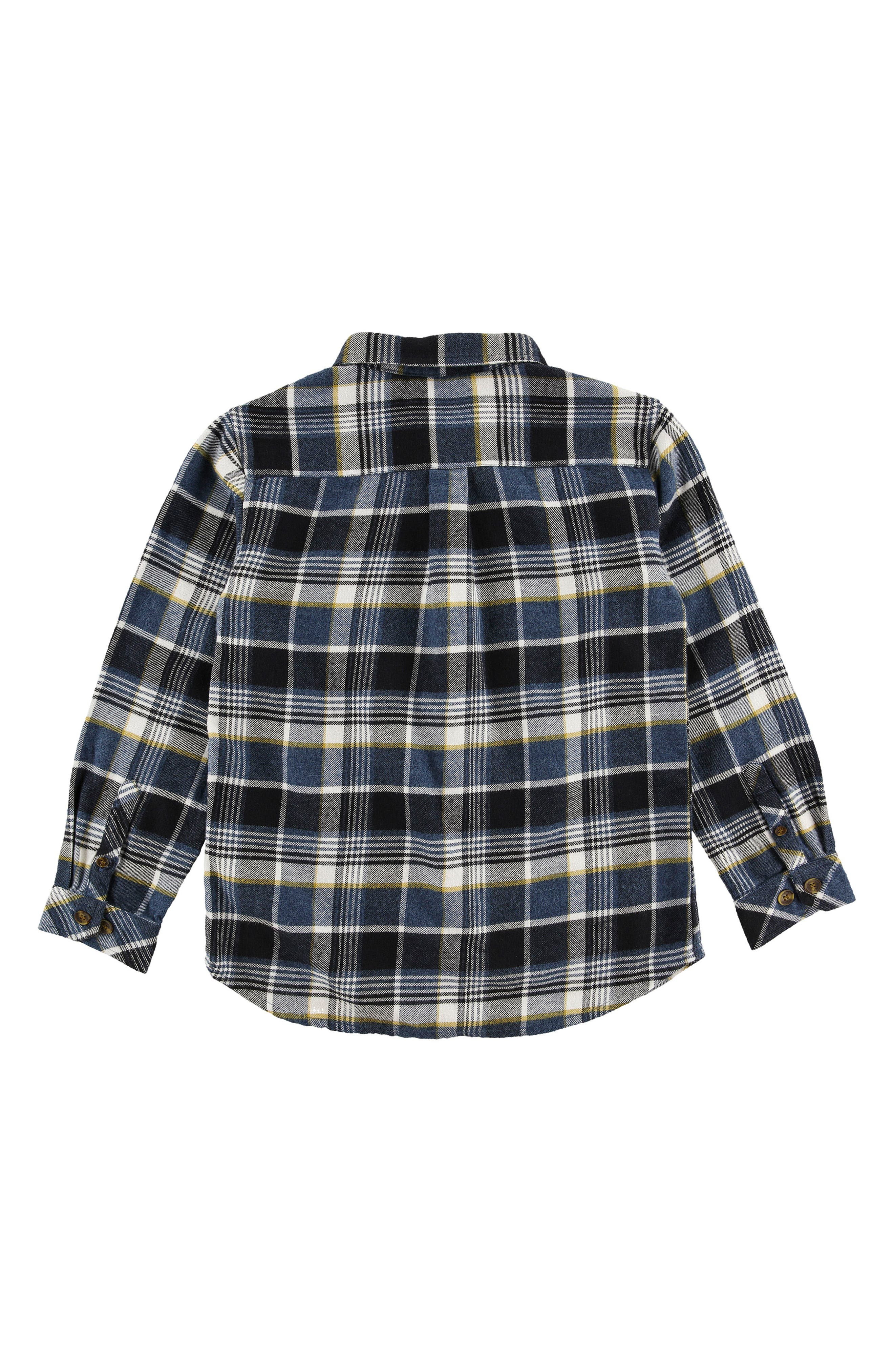 Redmond Flannel Shirt,                             Alternate thumbnail 2, color,                             Navy