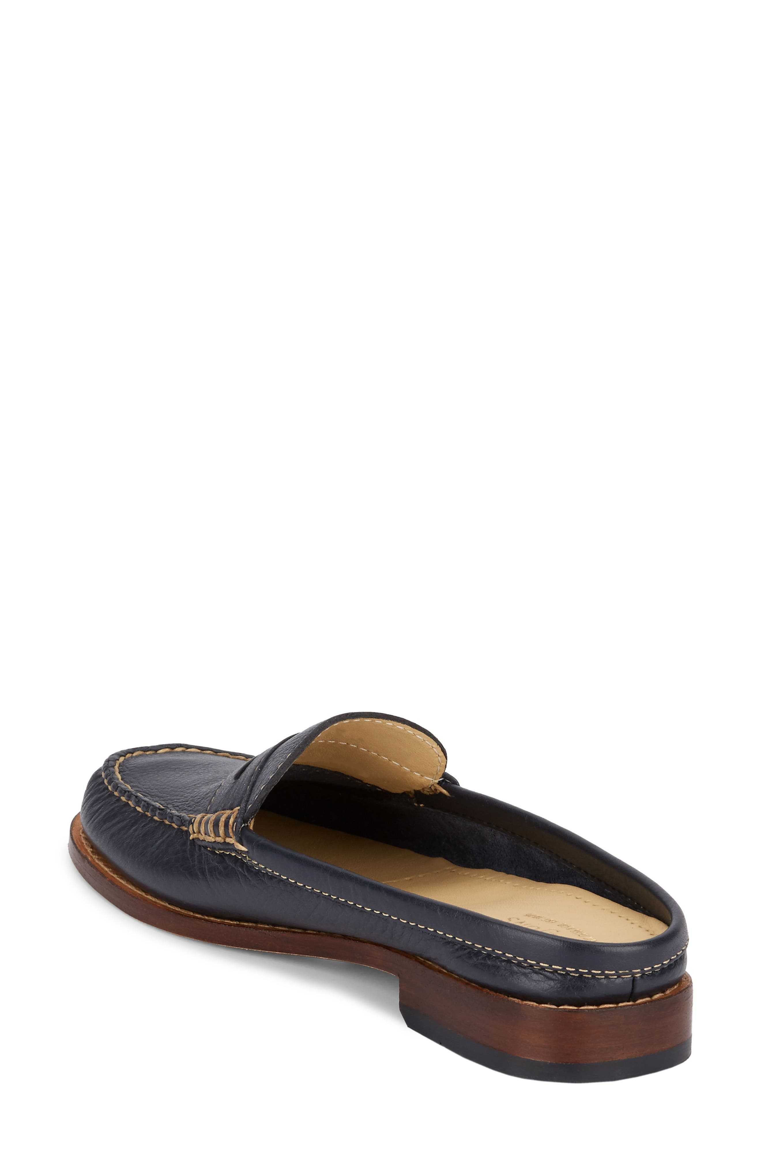 Wynn Loafer Mule,                             Alternate thumbnail 2, color,                             Navy Leather