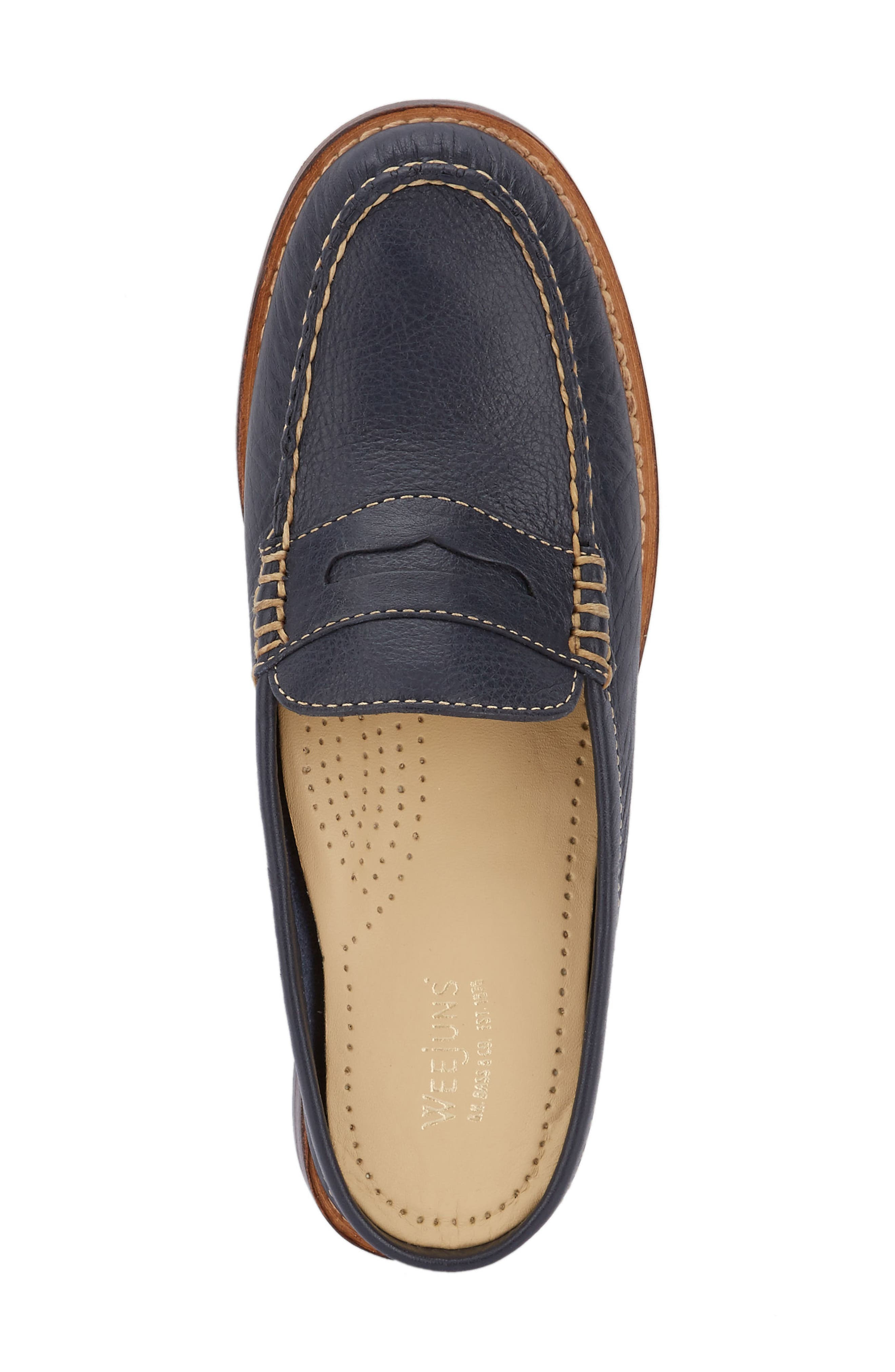 Wynn Loafer Mule,                             Alternate thumbnail 5, color,                             Navy Leather