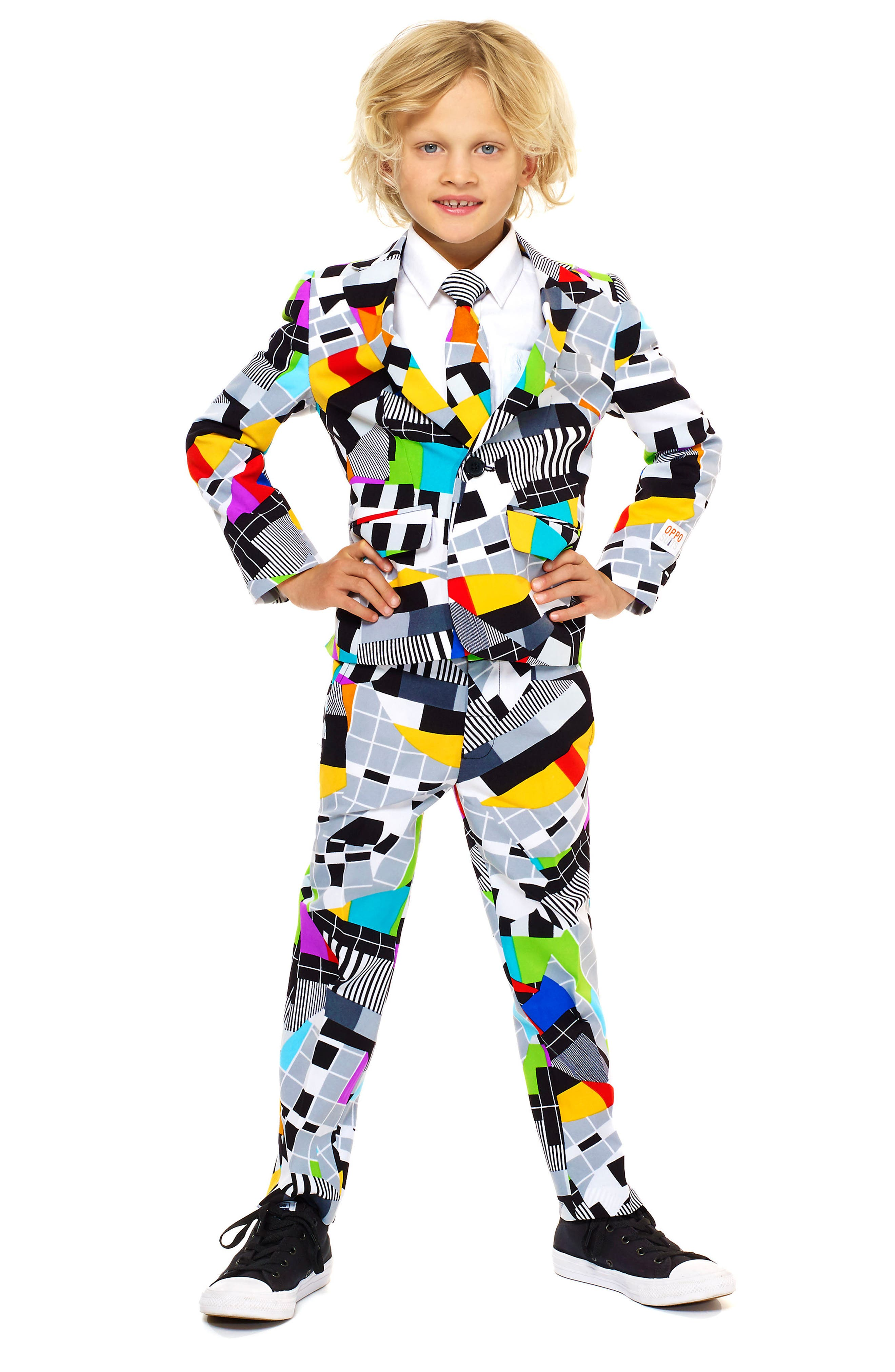 Alternate Image 2  - Oppo Testival Two-Piece Suit with Tie (Toddler Boys, Little Boys & Big Boys)