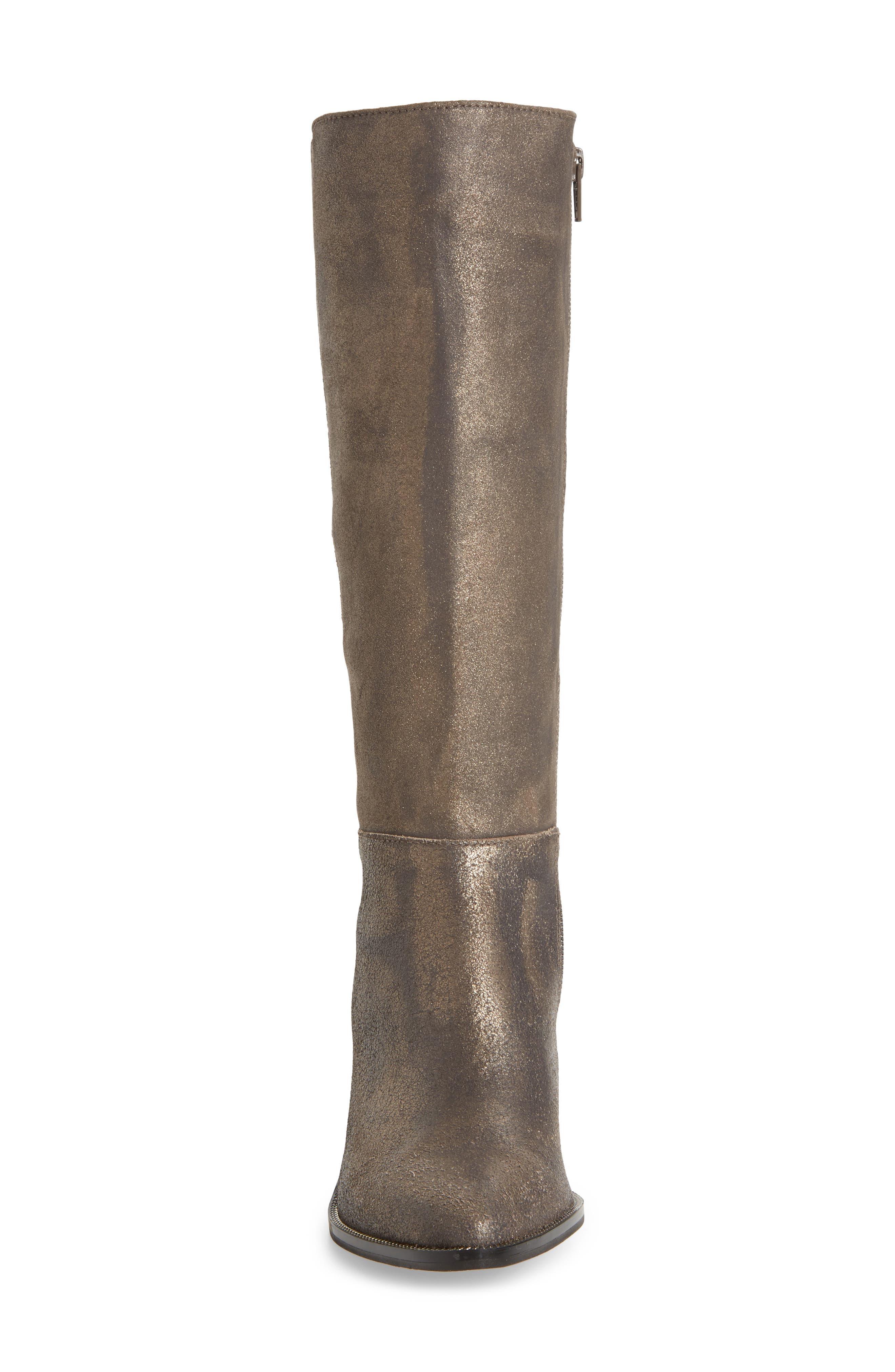 Huey Boot,                             Alternate thumbnail 4, color,                             Gunmetal Leather
