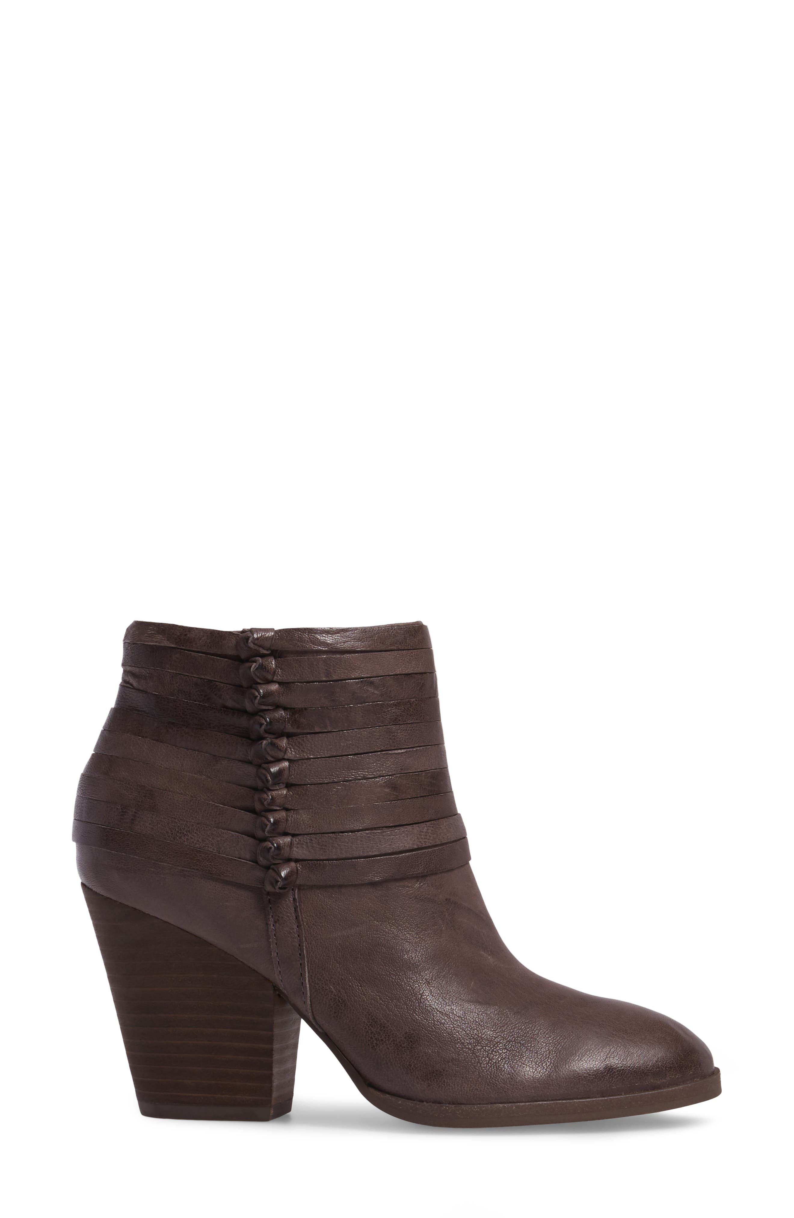 Lander Strappy Bootie,                             Alternate thumbnail 3, color,                             Cemento Grey Leather