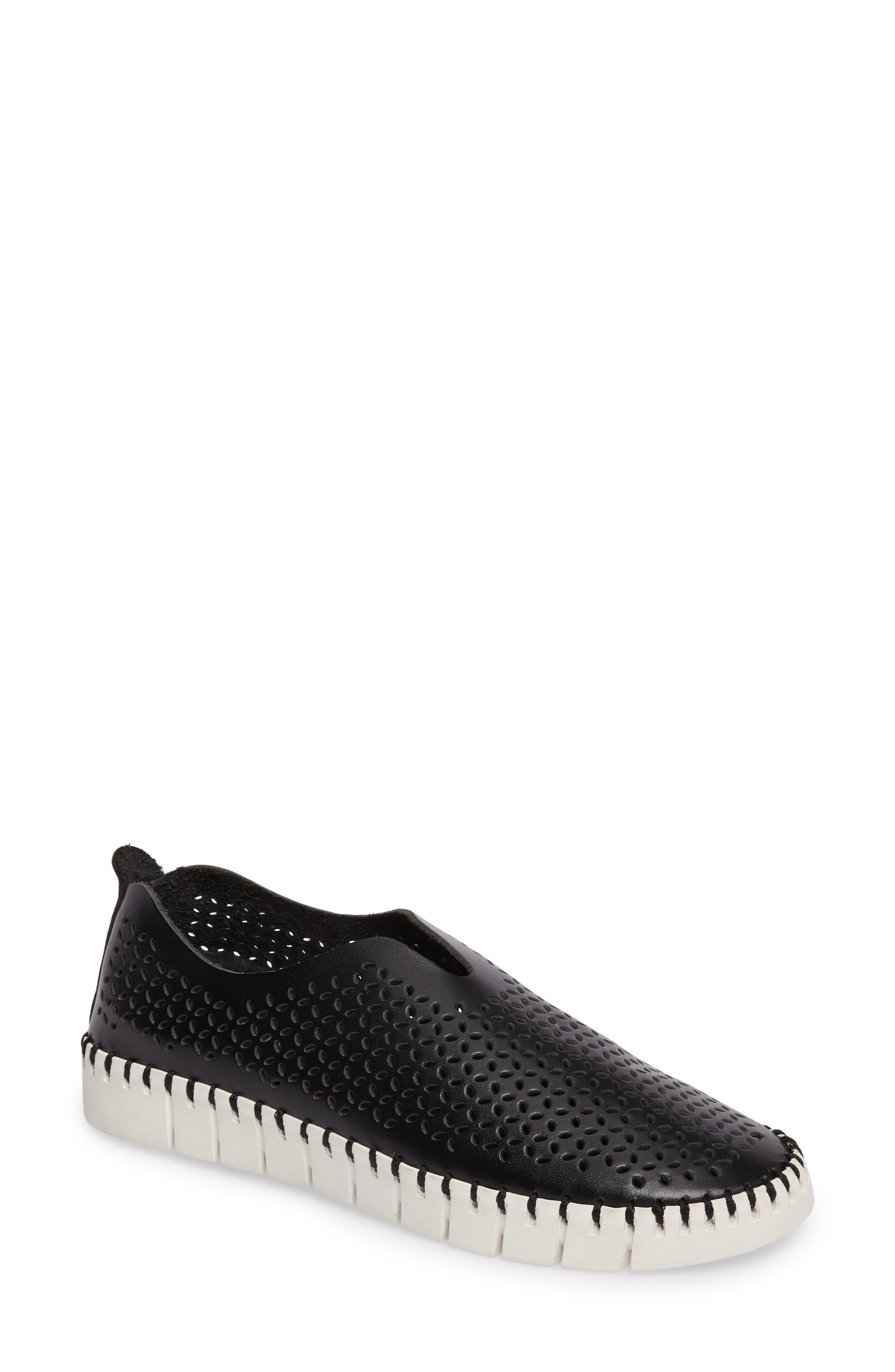 Jeffrey Campbell Tiles Perforated Slip-On Sneaker (Women)