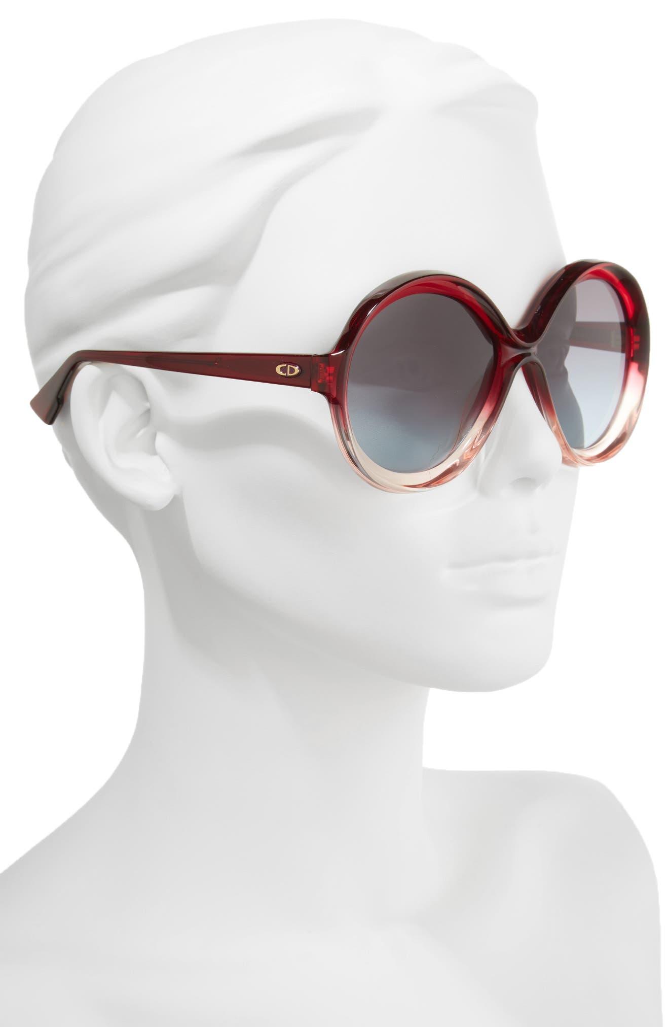 Alternate Image 2  - Dior Bianca 58mm Round Sunglasses