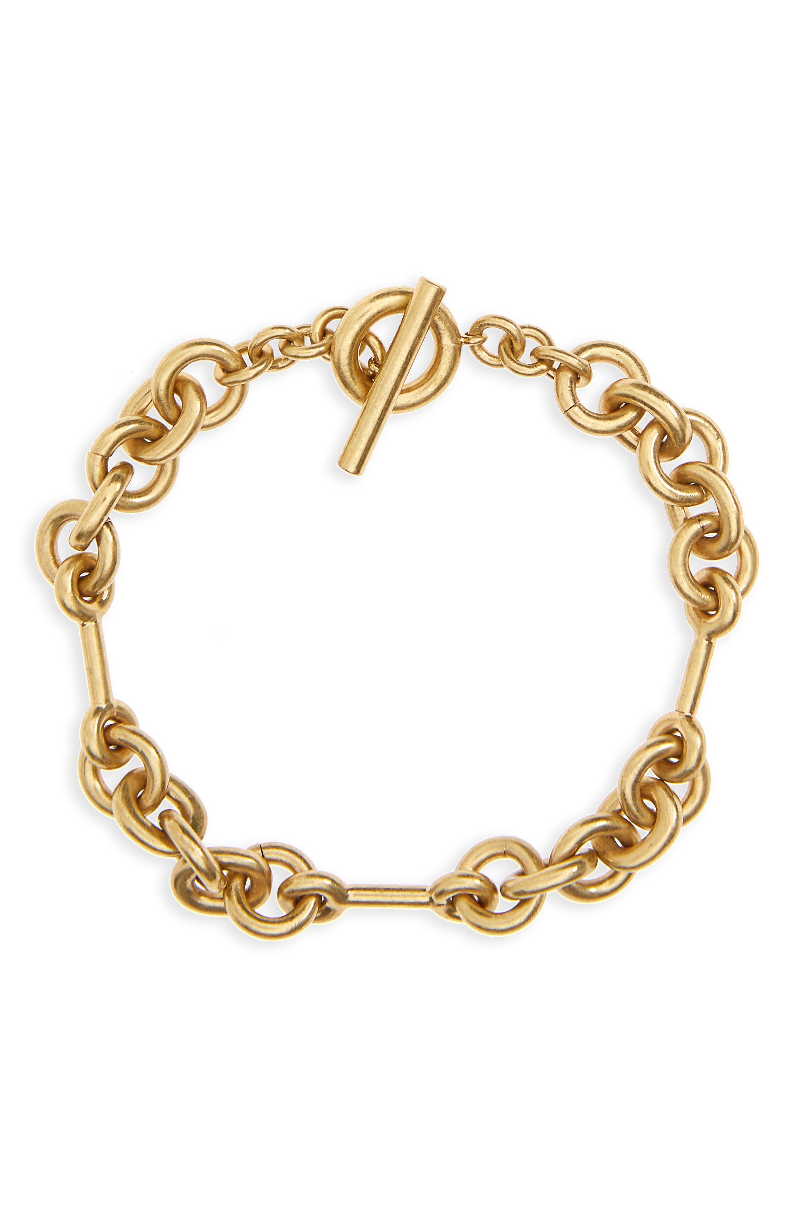 Circle Link Bracelet,                         Main,                         color, Lt. Gold Ox