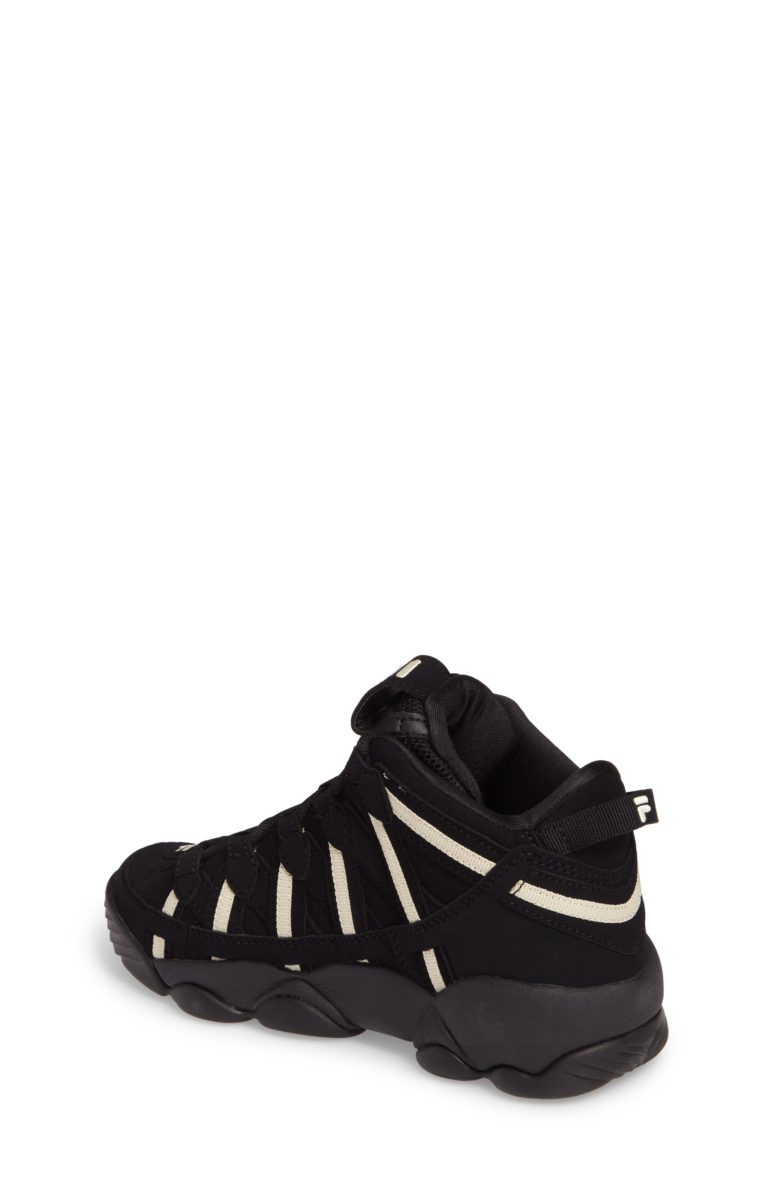 Spaghetti Deluxe Mid Top Sneaker,                             Alternate thumbnail 2, color,                             Black/ Cream