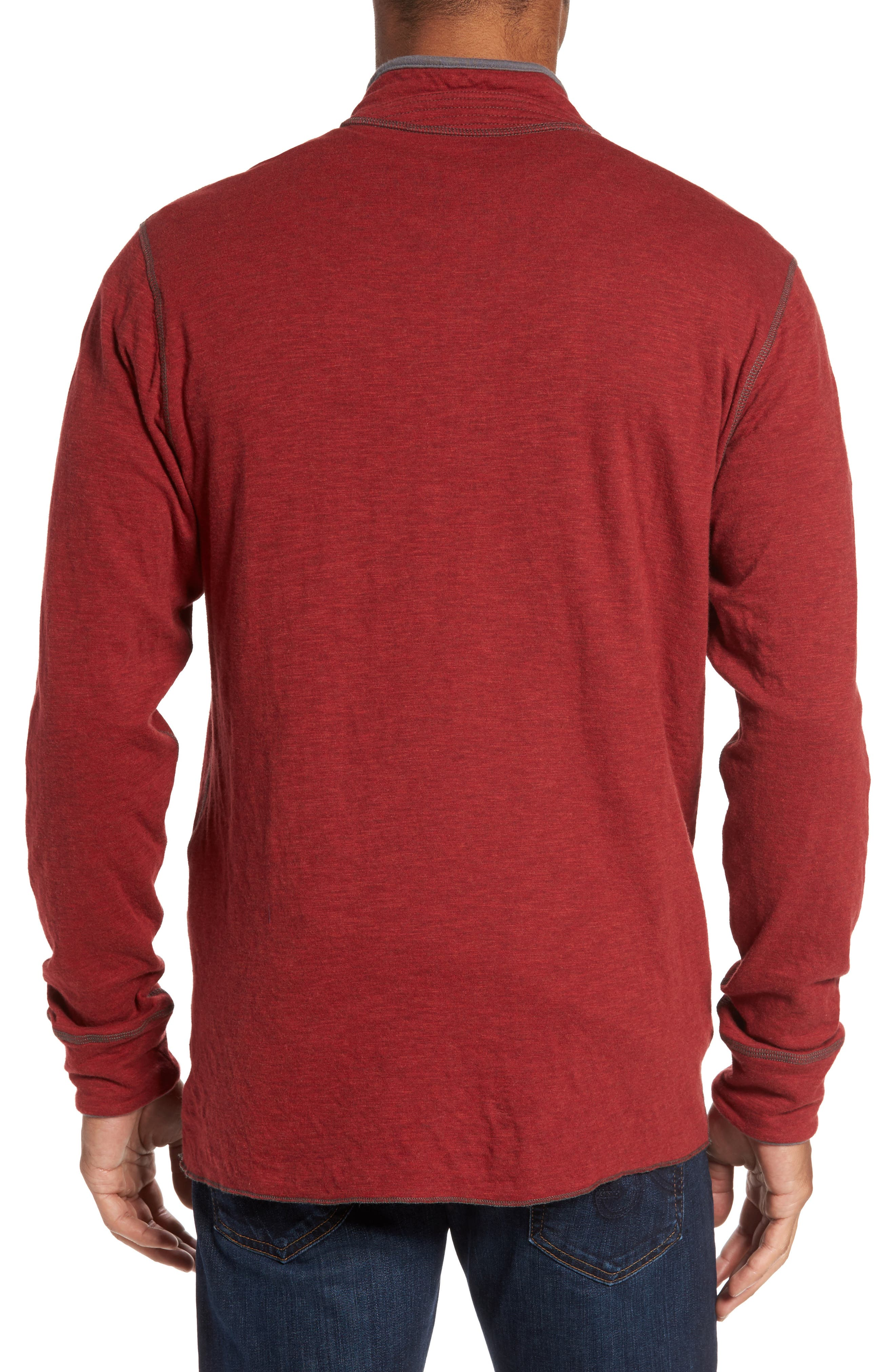 Alternate Image 2  - Jeremiah Mitch Reversible Slubbed Quarter Snap Pullover