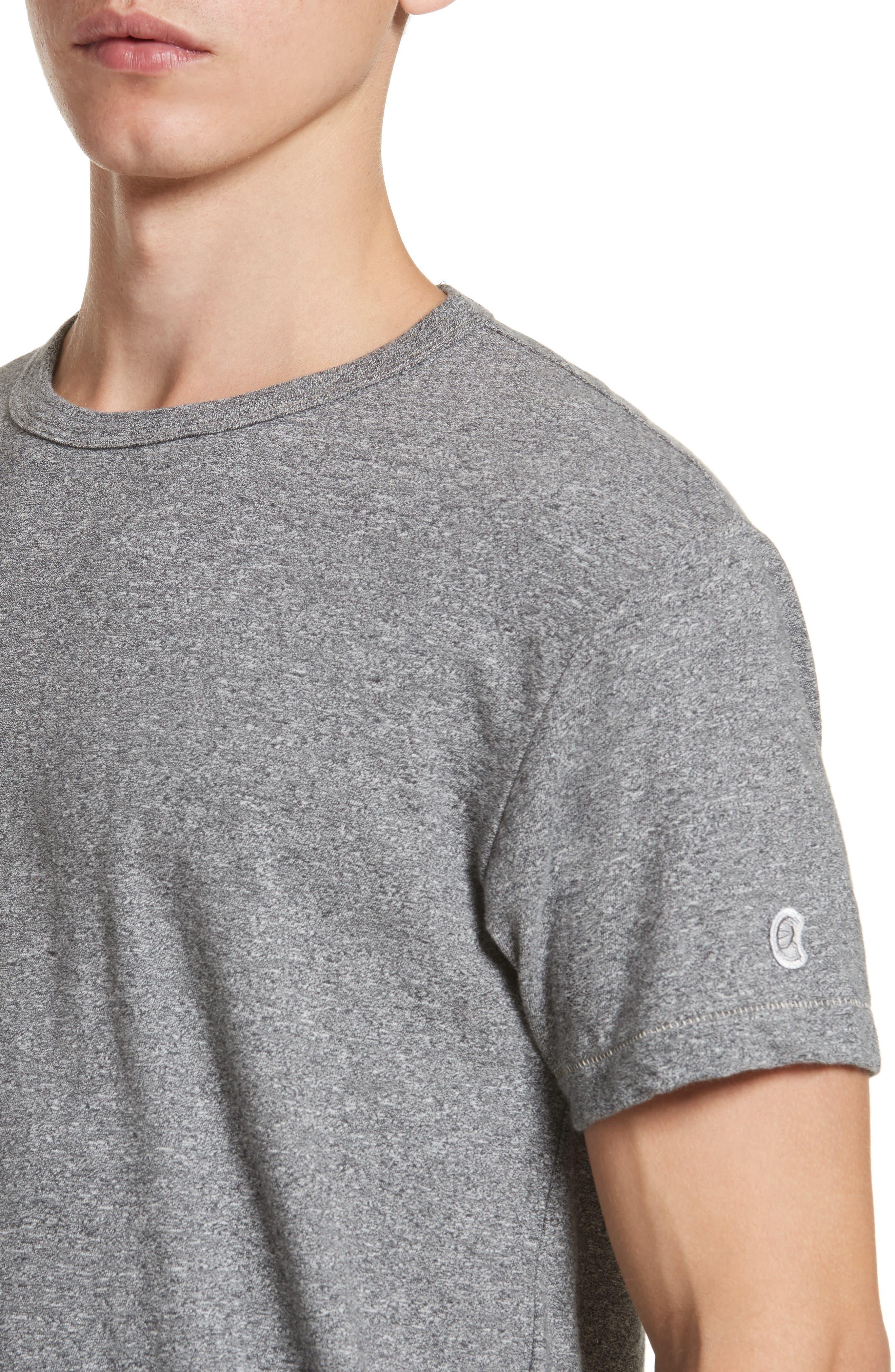 Alternate Image 4  - Todd Snyder + Champion Heathered Crewneck T-Shirt