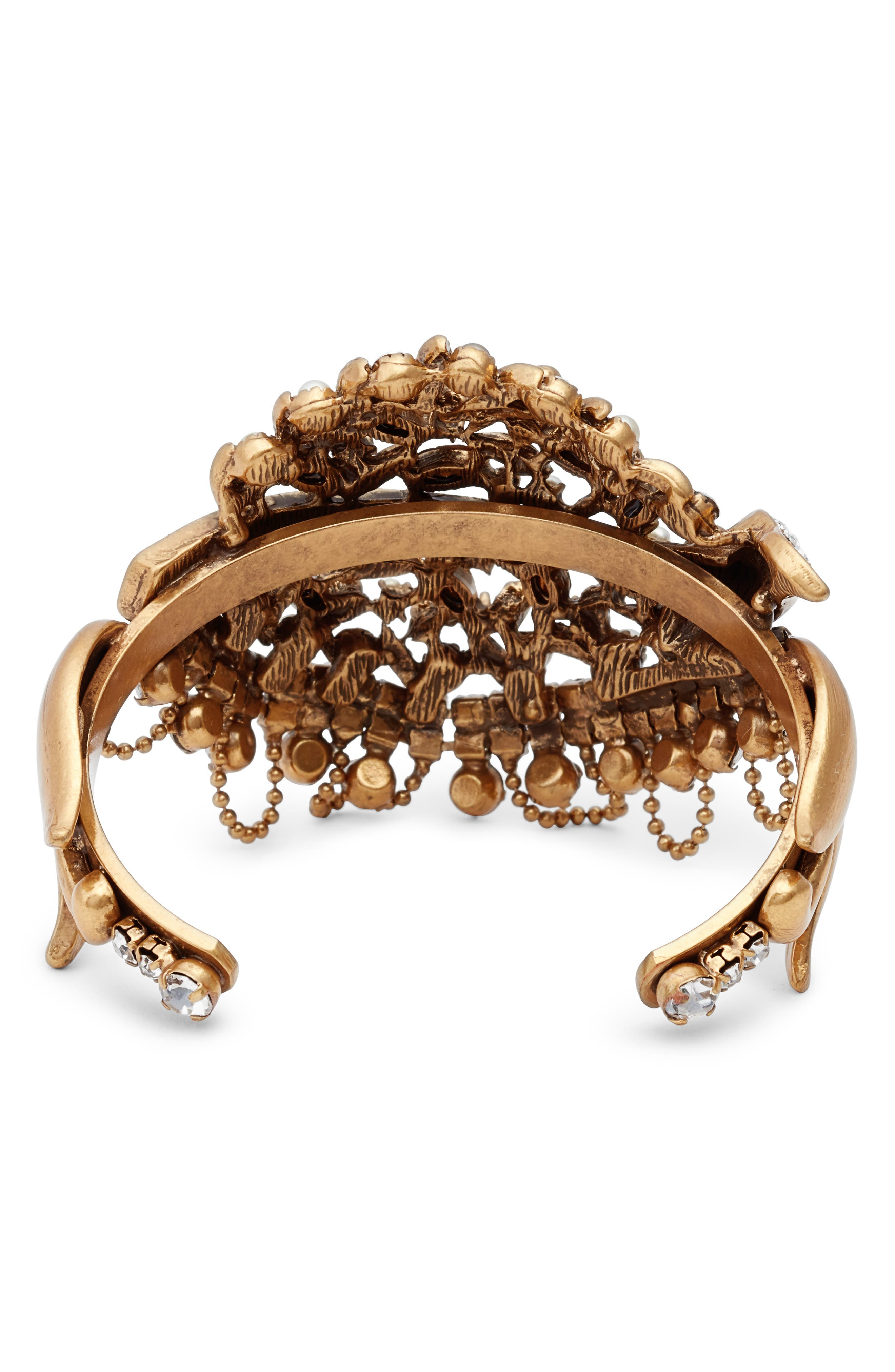 Crystal Bracelet,                             Alternate thumbnail 2, color,                             Gold