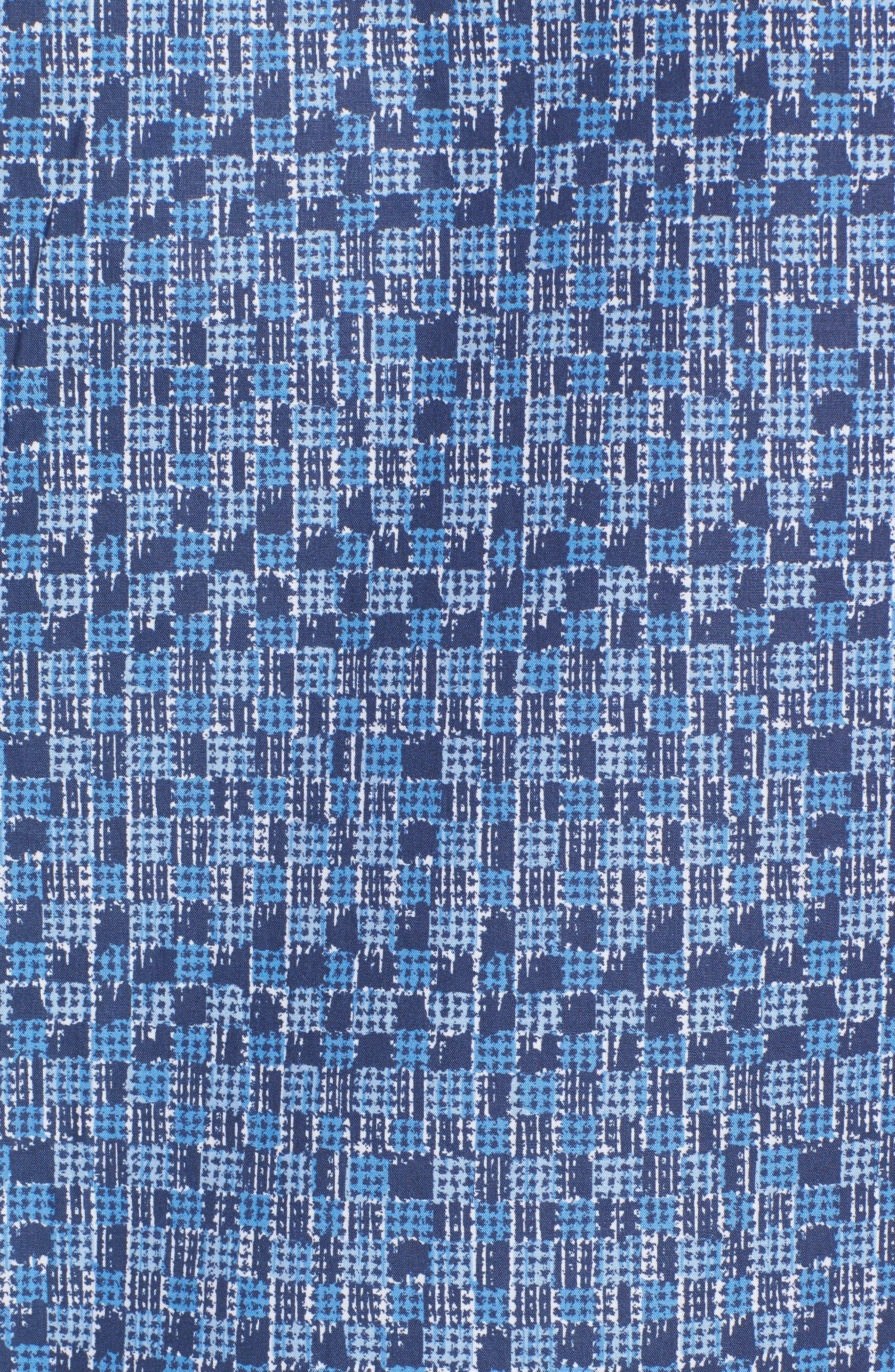 Classic Fit Pattern Sport Shirt,                             Alternate thumbnail 5, color,                             Navy