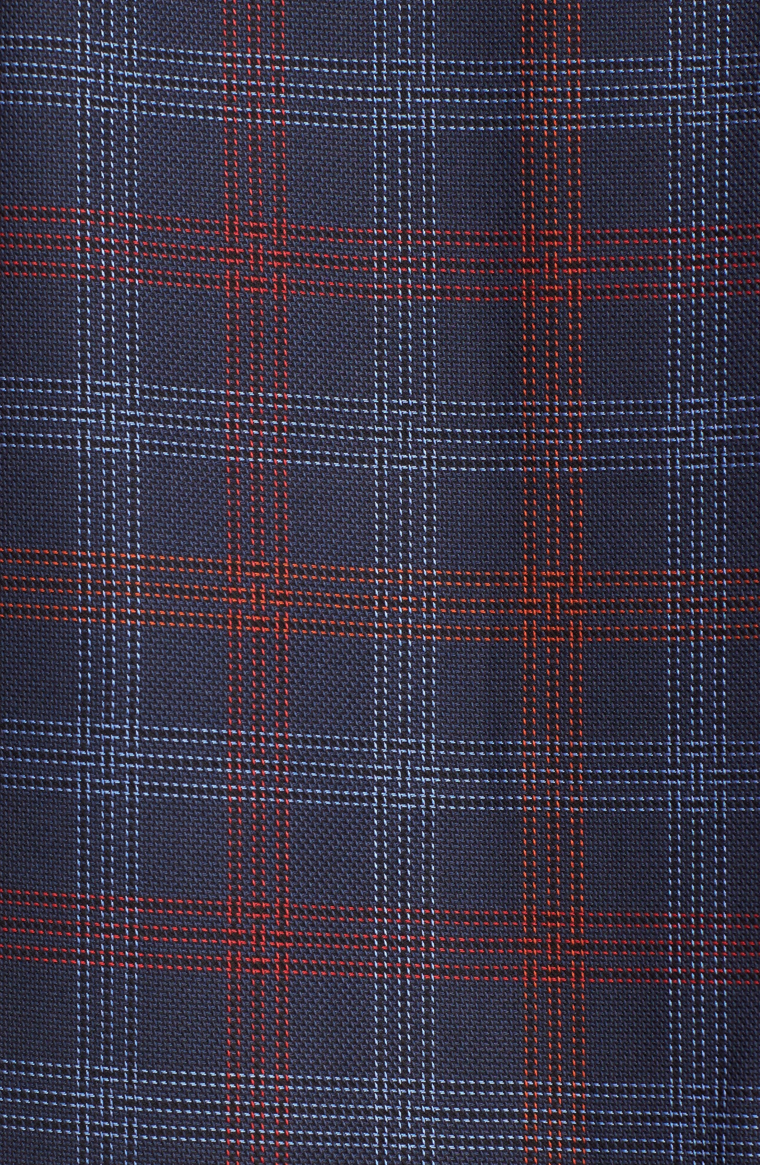 Alternate Image 5  - Bugatchi Classic Fit Pinstripe Check Sport Shirt