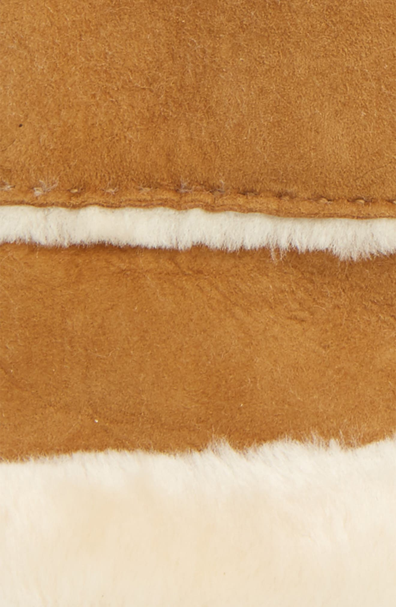 UGG<sup>®</sup> Slim Genuine Shearling Tech Gloves,                             Alternate thumbnail 3, color,                             Chestnut