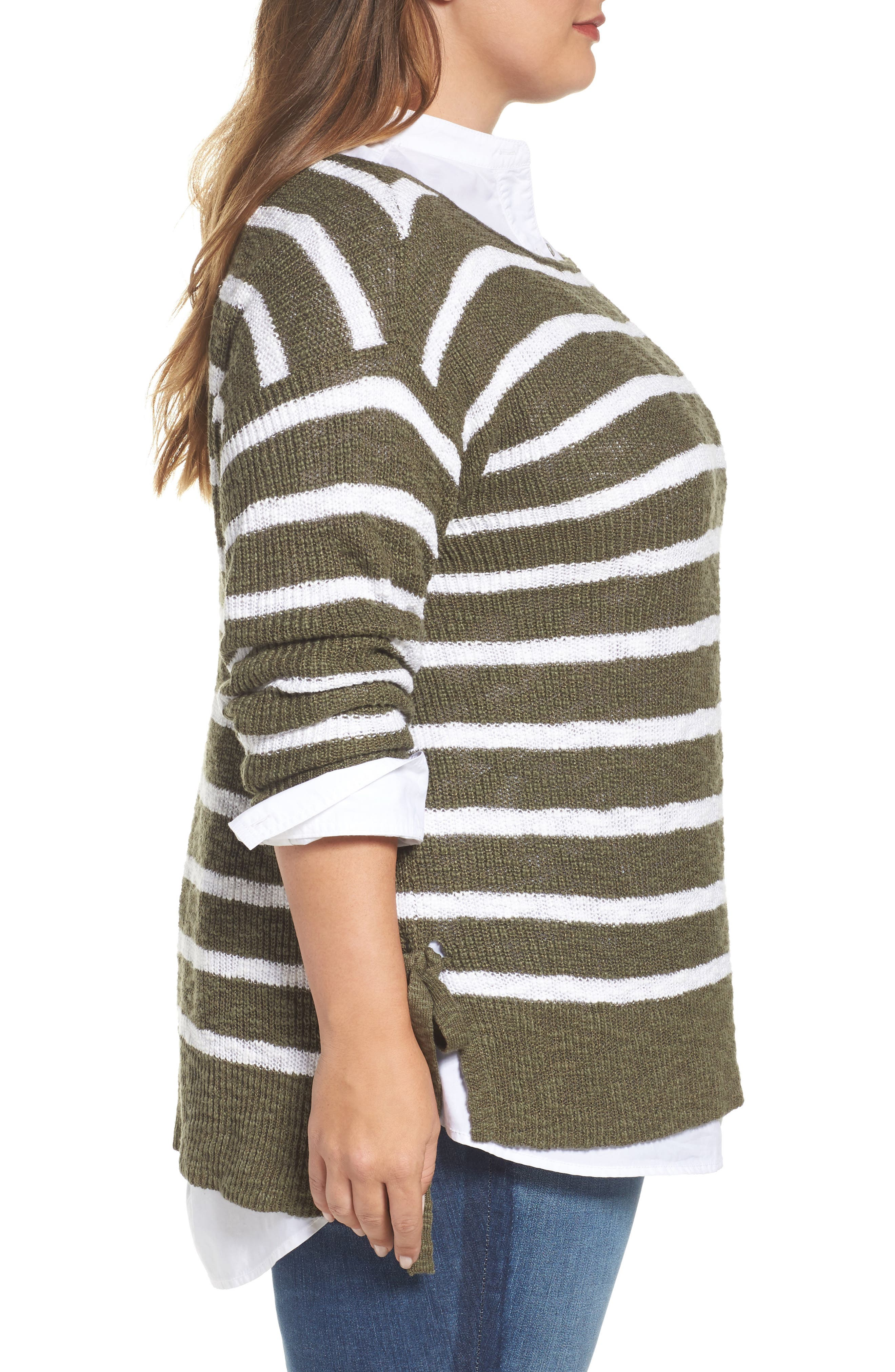 Alternate Image 4  - Caslon® Tunic Sweater with Side Ties (Plus Size)