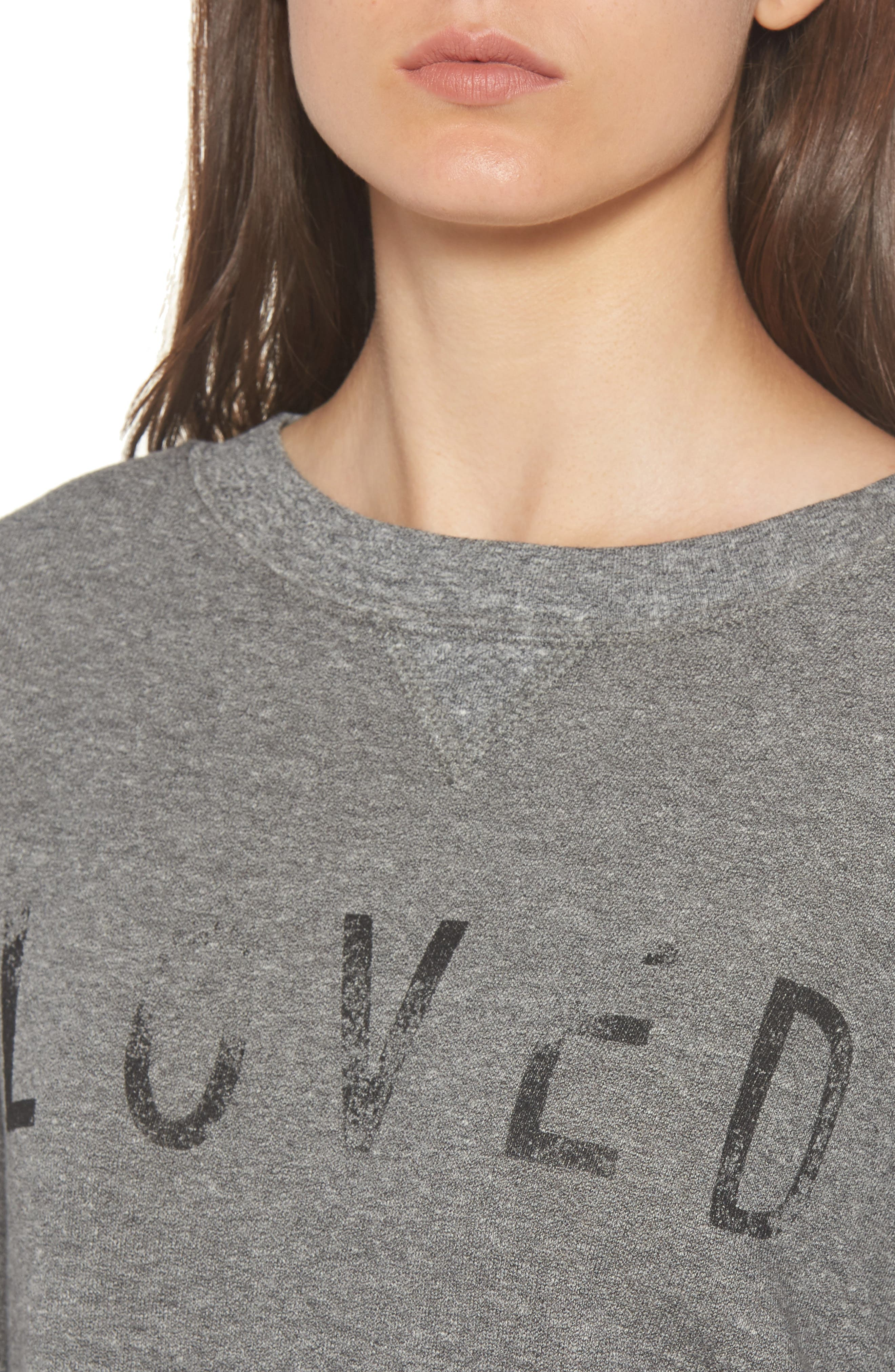 Alternate Image 4  - Current/Elliott Heathered Slouchy Sweatshirt