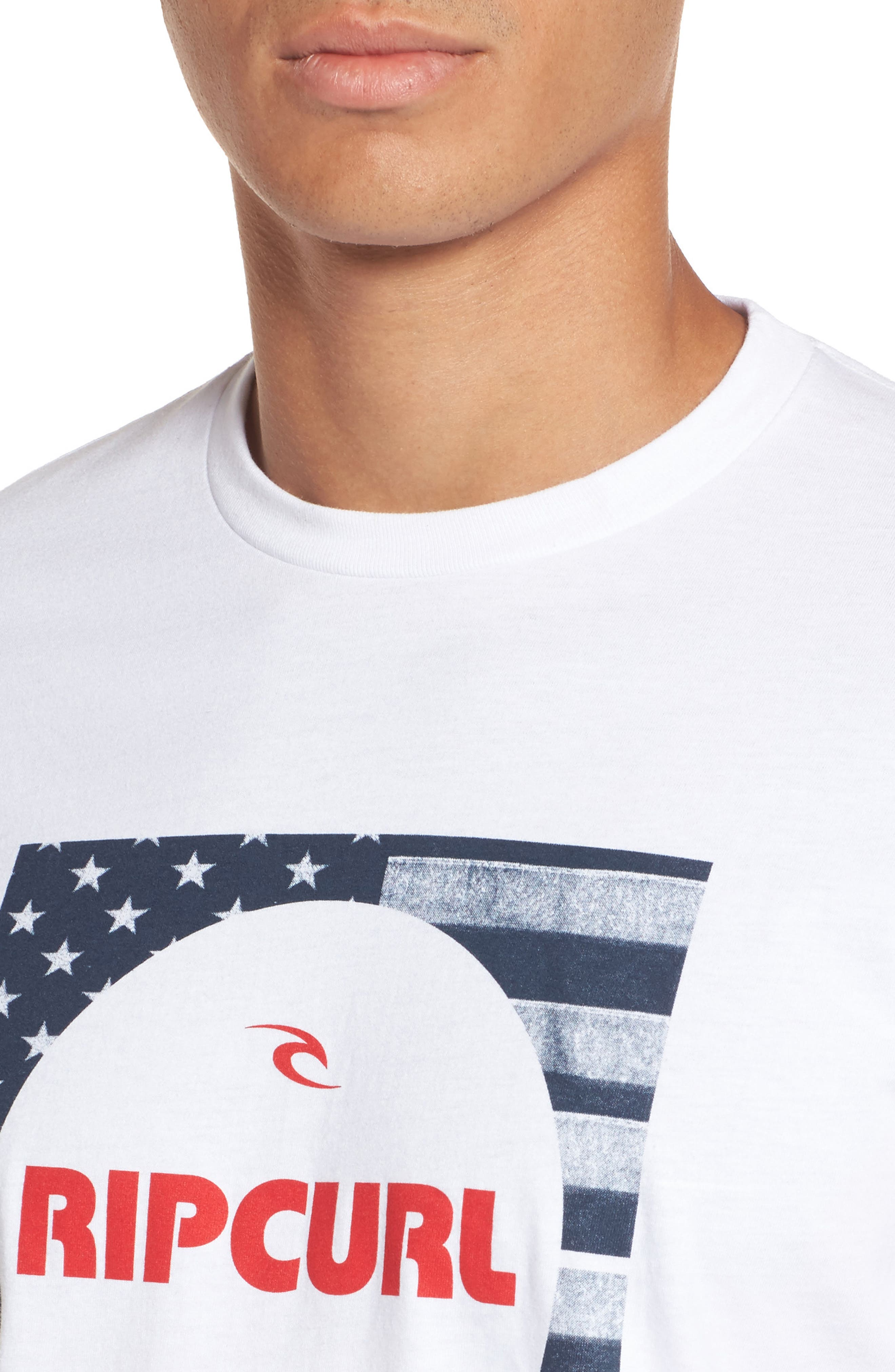 Alternate Image 4  - Rip Curl Born in the USA Logo Graphic T-Shirt