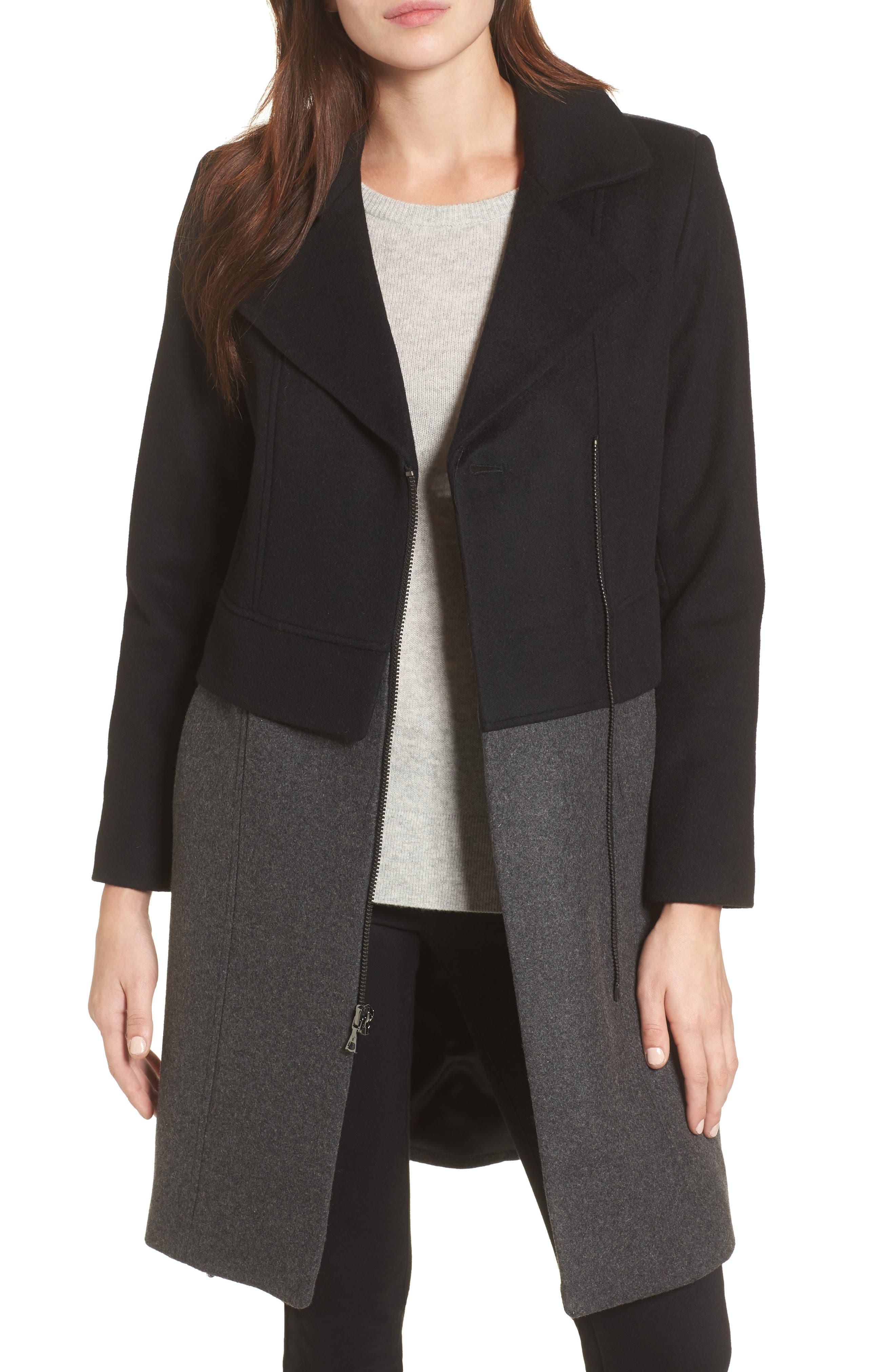 Brooklyn Colorblock Coat,                         Main,                         color, Grey/ Black