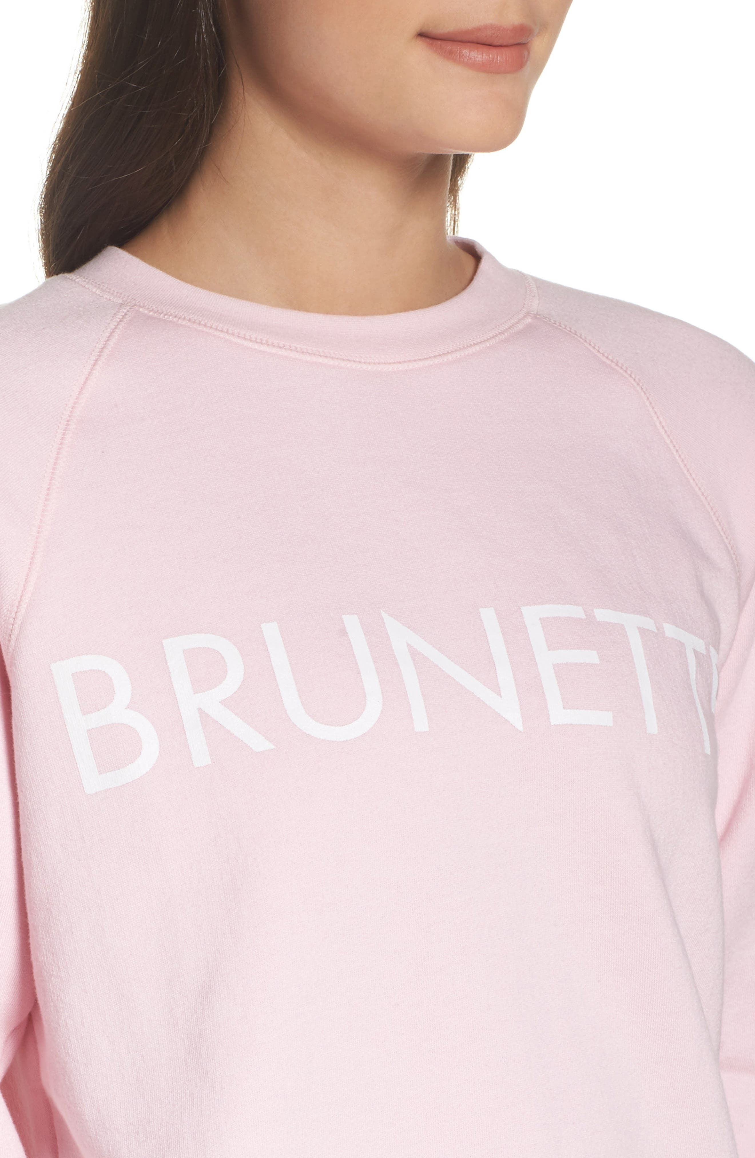 Brunette Crewneck Sweatshirt,                             Alternate thumbnail 6, color,                             Pink