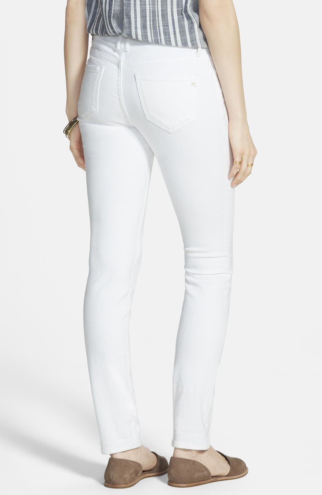 Alternate Image 2  - Madewell 9-Inch High-Rise Skinny Jeans (Pure White)
