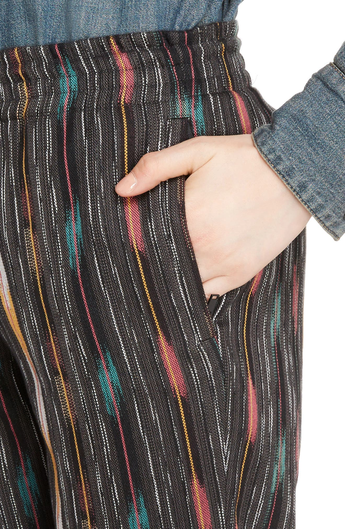 Ikat Cotton & Silk Joggers,                             Alternate thumbnail 4, color,                             Multi Color