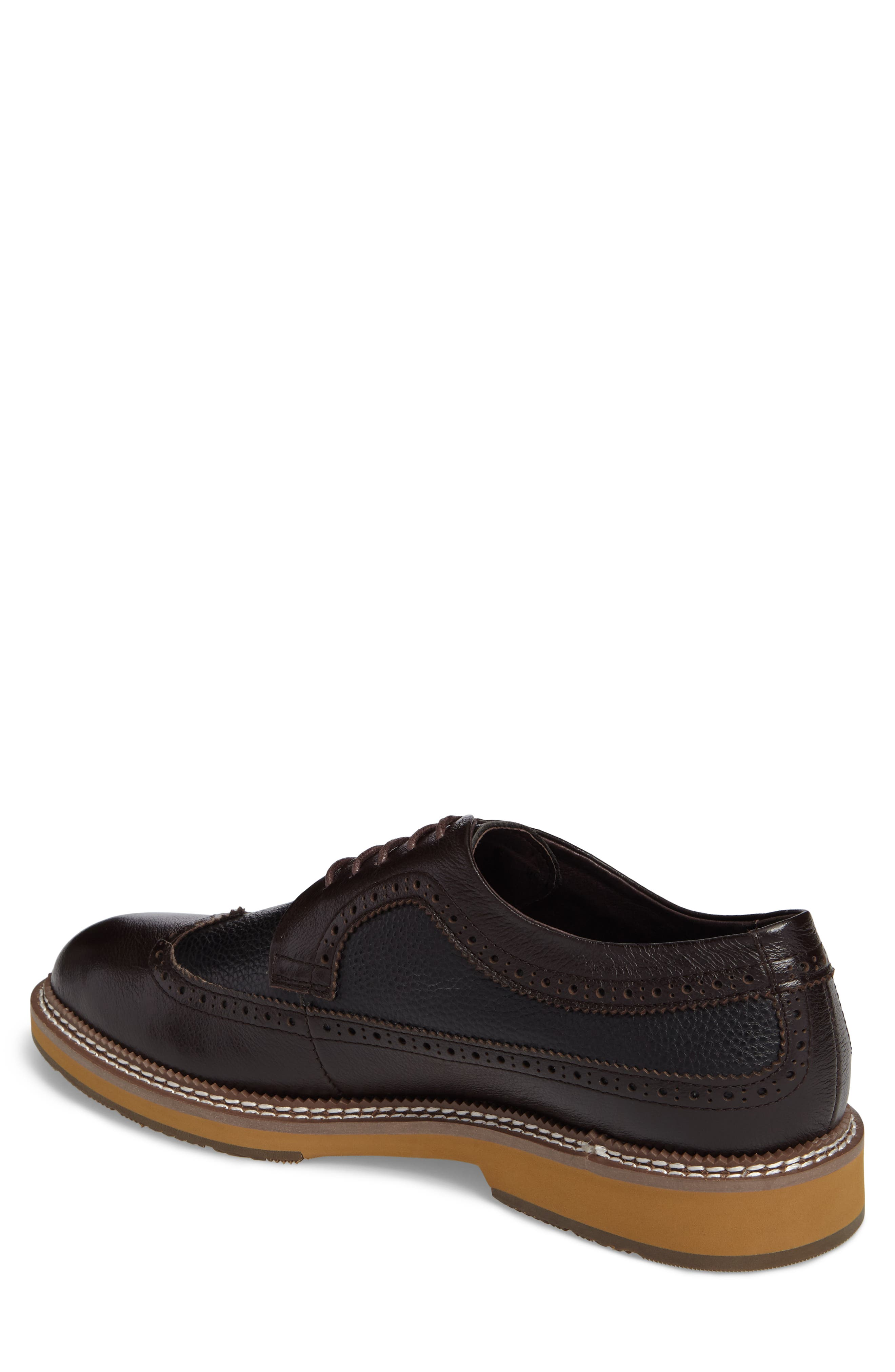 Fouquet Wingtip Derby,                             Alternate thumbnail 2, color,                             Brown Leather