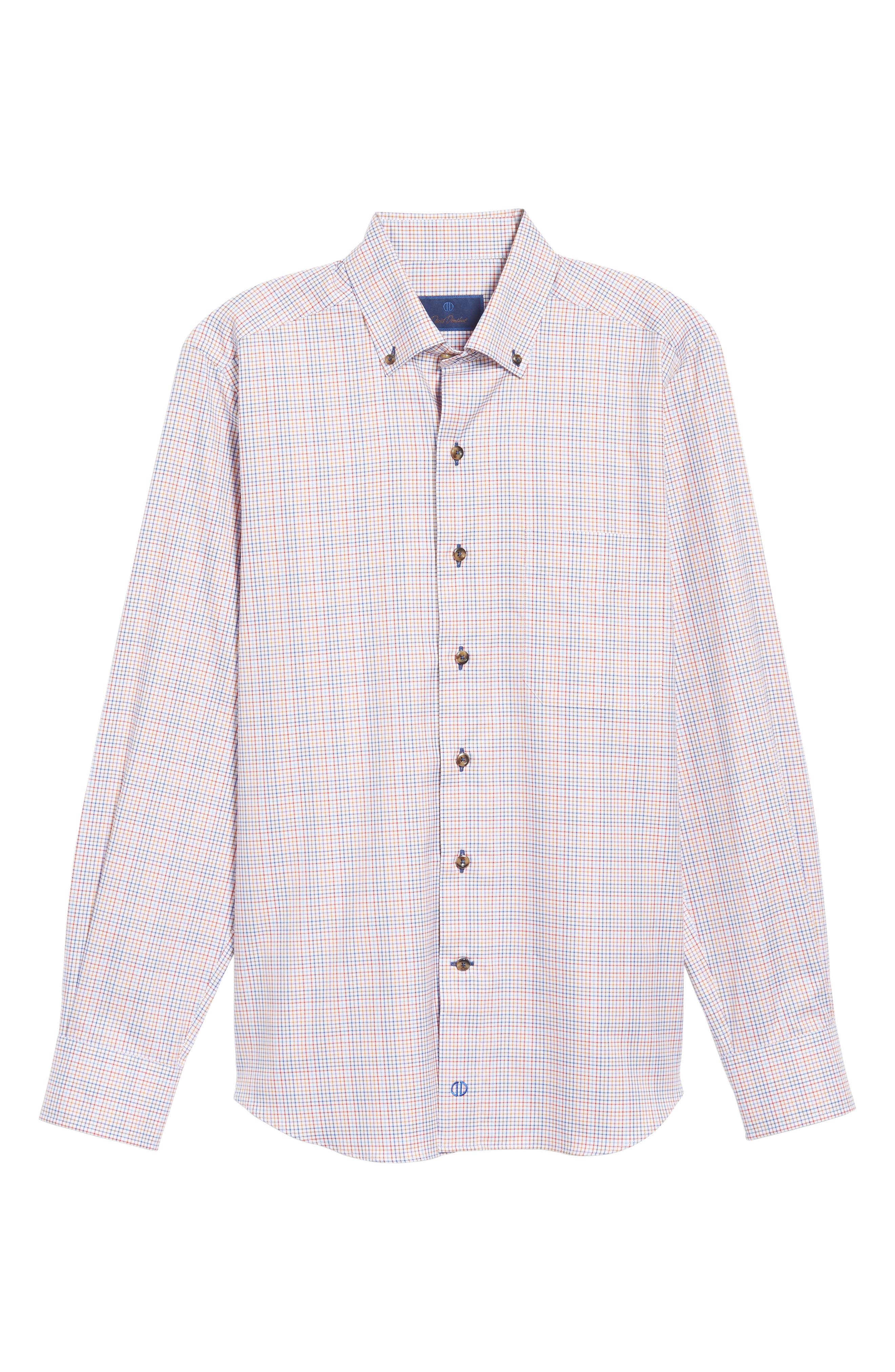 Alternate Image 6  - David Donahue Regular Fit Plaid Sport Shirt