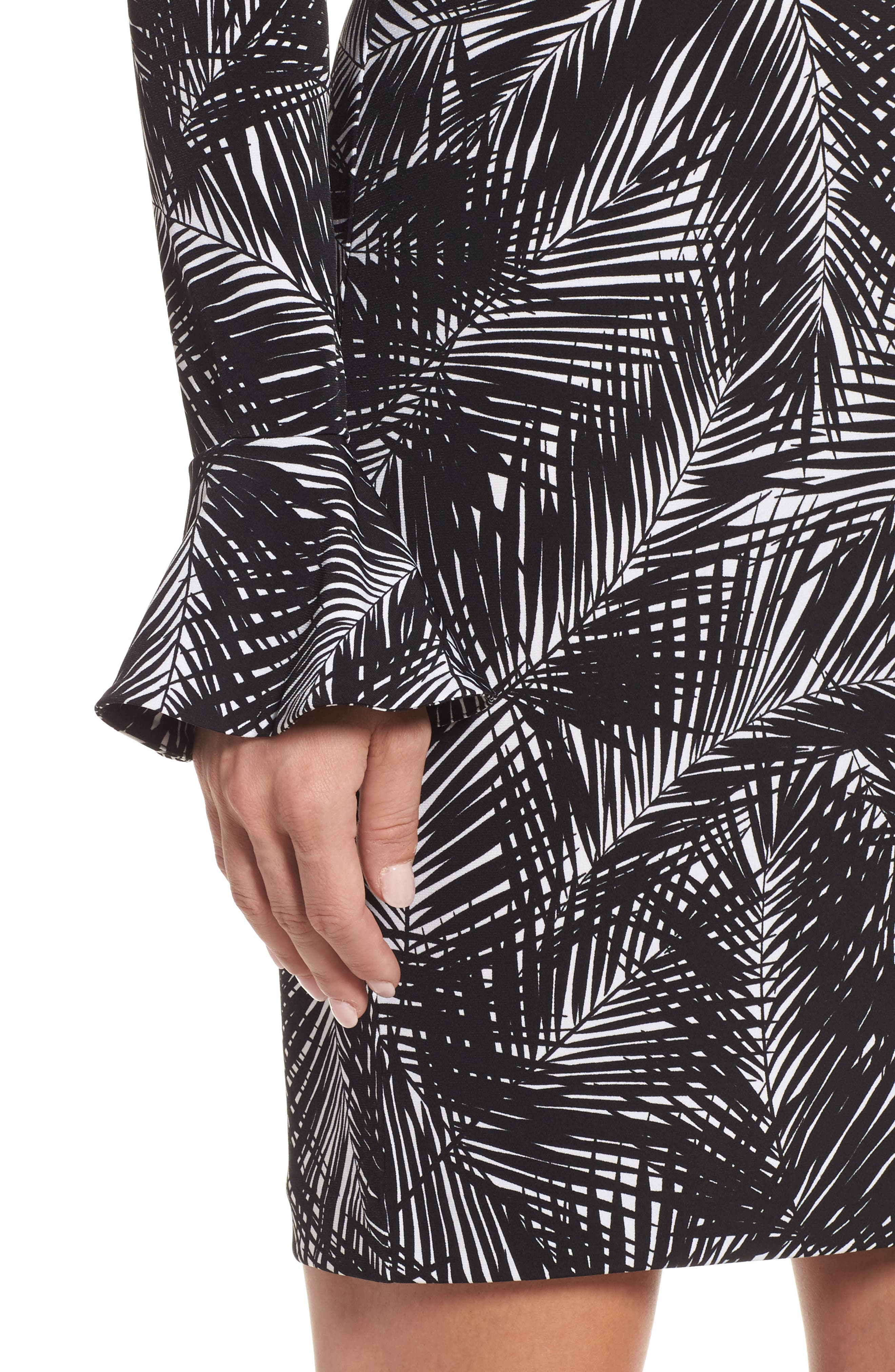 Alternate Image 4  - MICHAEL Michael Kors Palm Print Bell Sleeve Dress