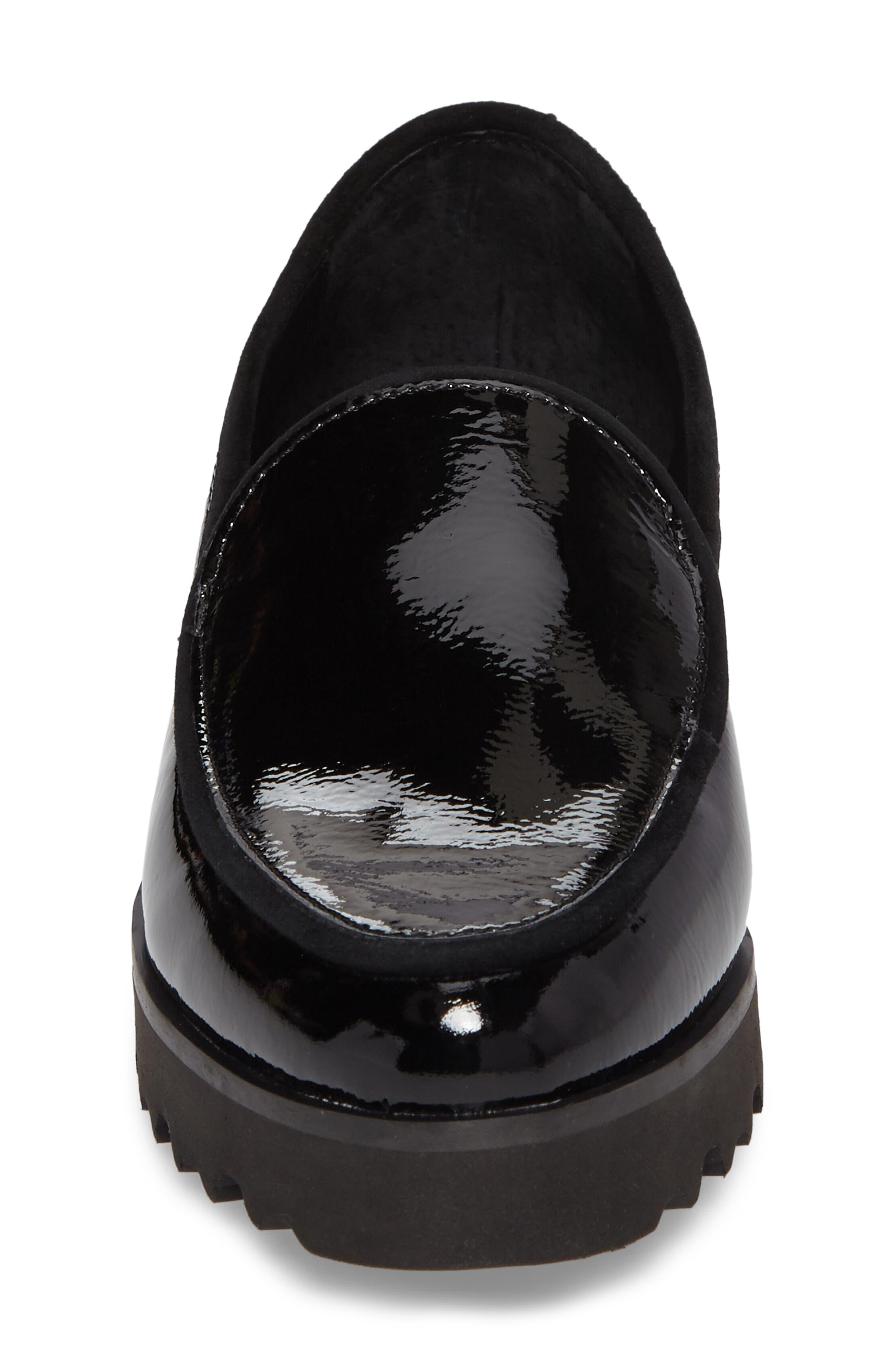 Elen Loafer,                             Alternate thumbnail 4, color,                             Black Leather