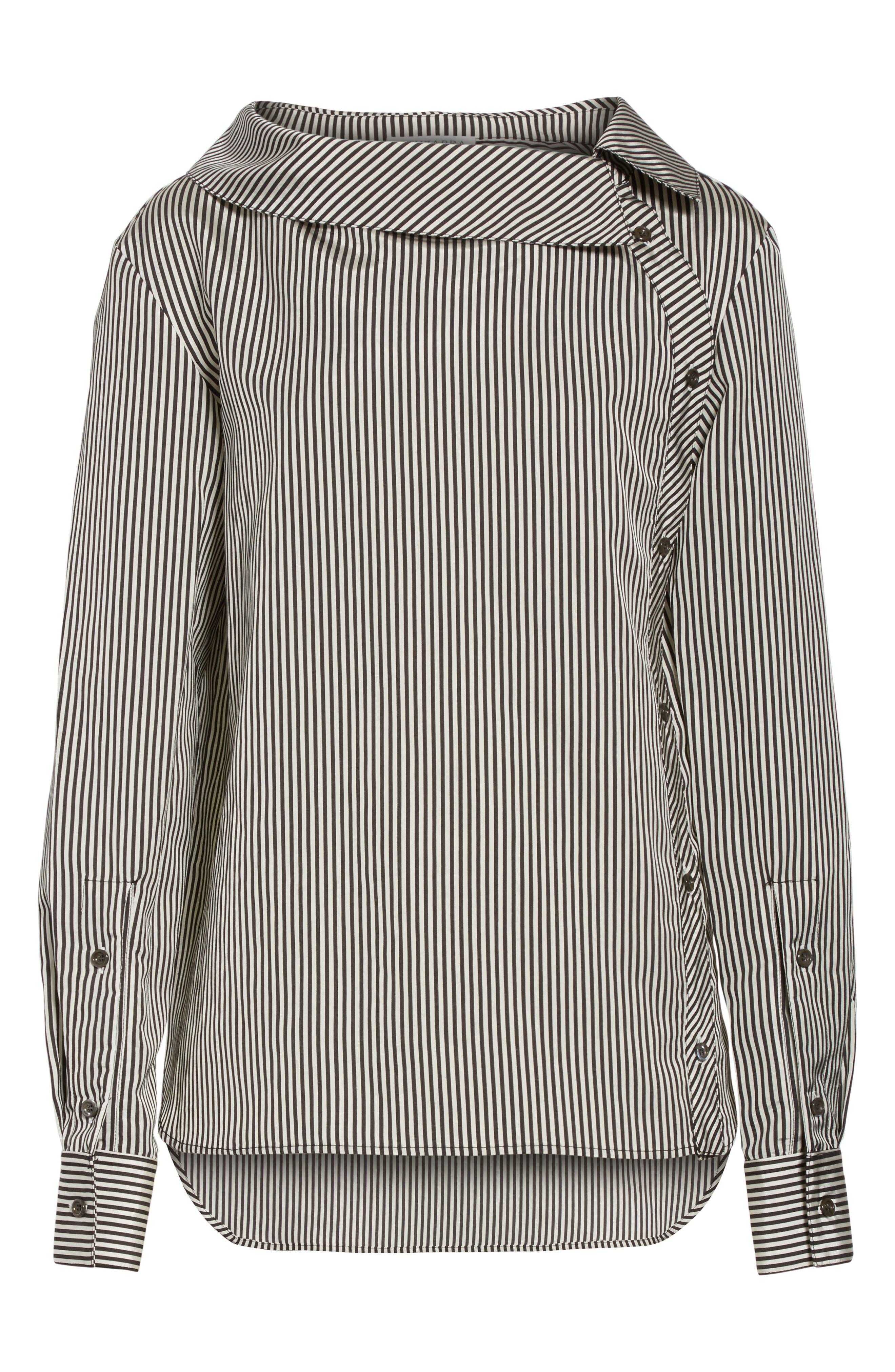 Alternate Image 7  - Altuzarra Asymmetrical Pinstripe Shirt