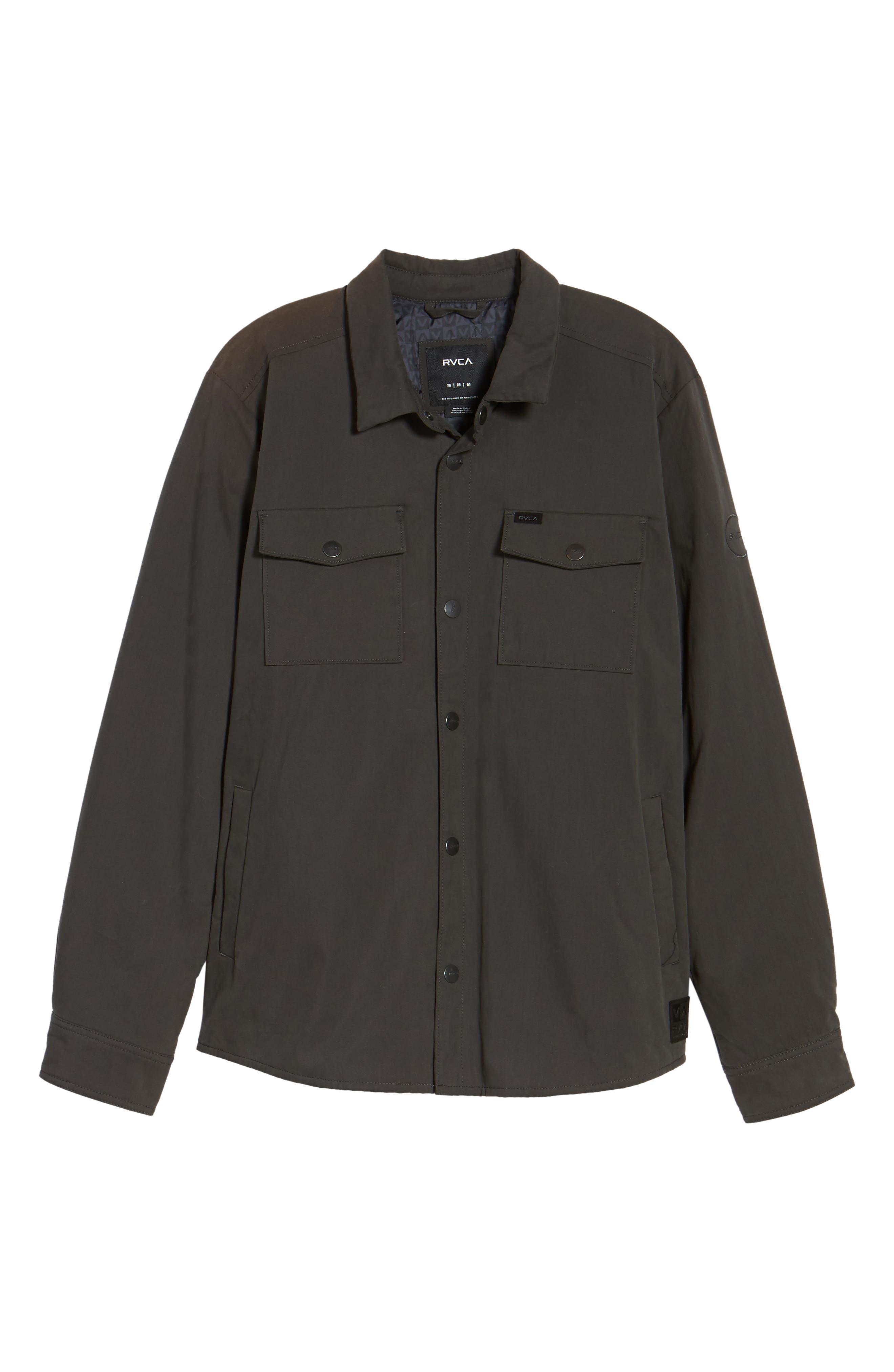 Officer's Shirt Jacket,                             Alternate thumbnail 6, color,                             Pirate Black
