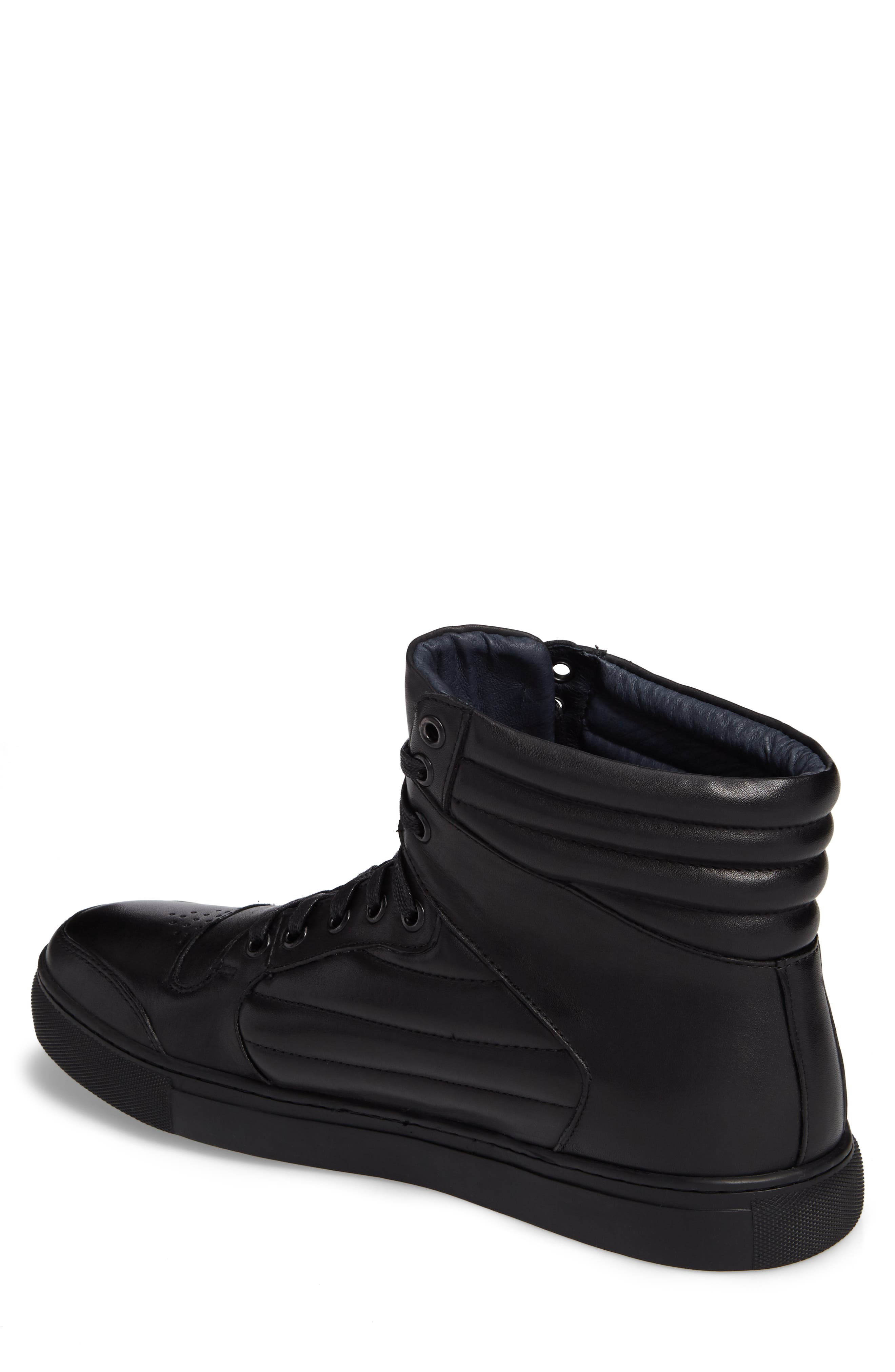 Vacdes High Top Sneaker,                             Alternate thumbnail 2, color,                             Black Leather