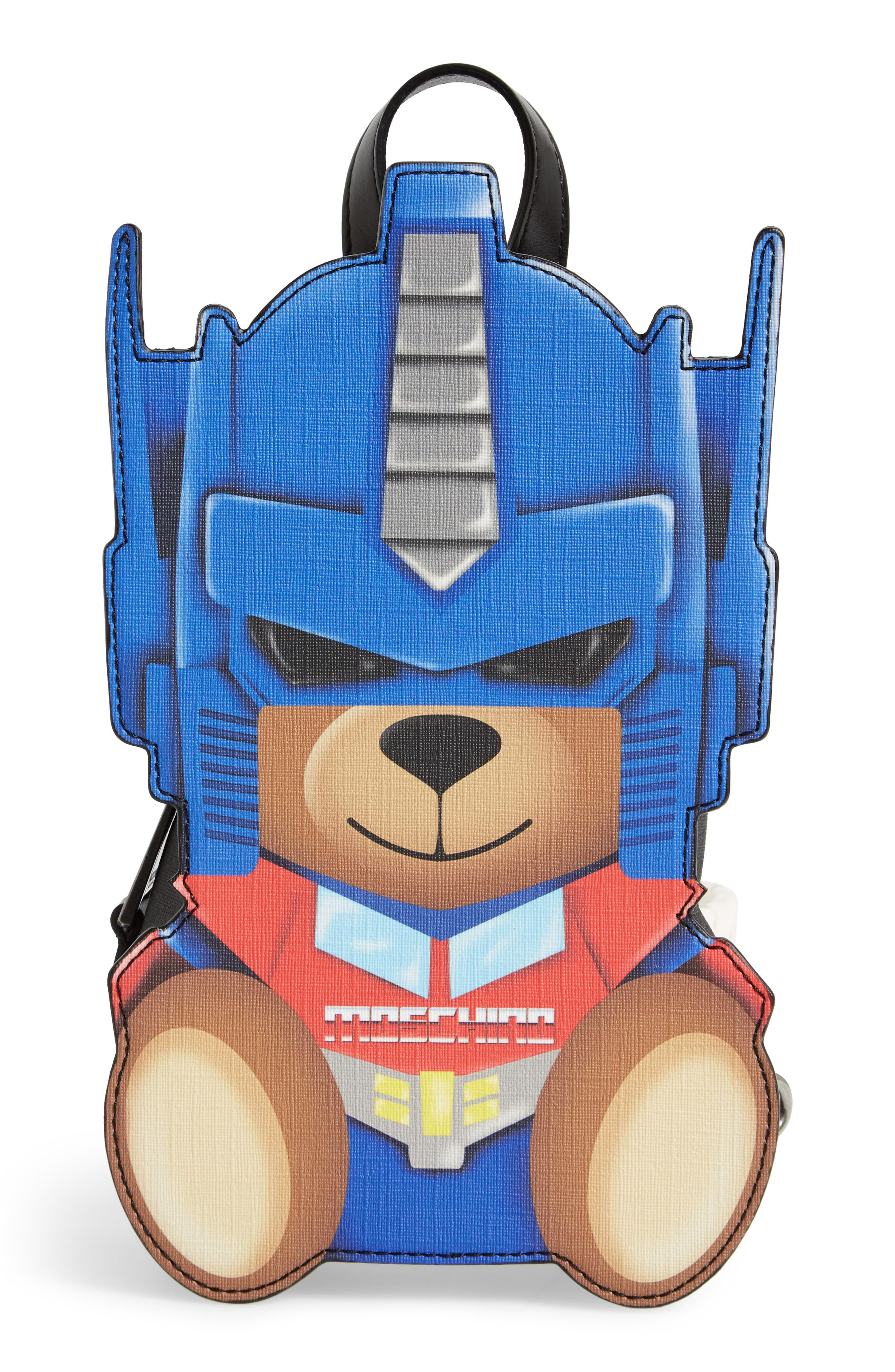Alternate Image 1 Selected - Moschino Transformer Bear Faux Leather Backpack